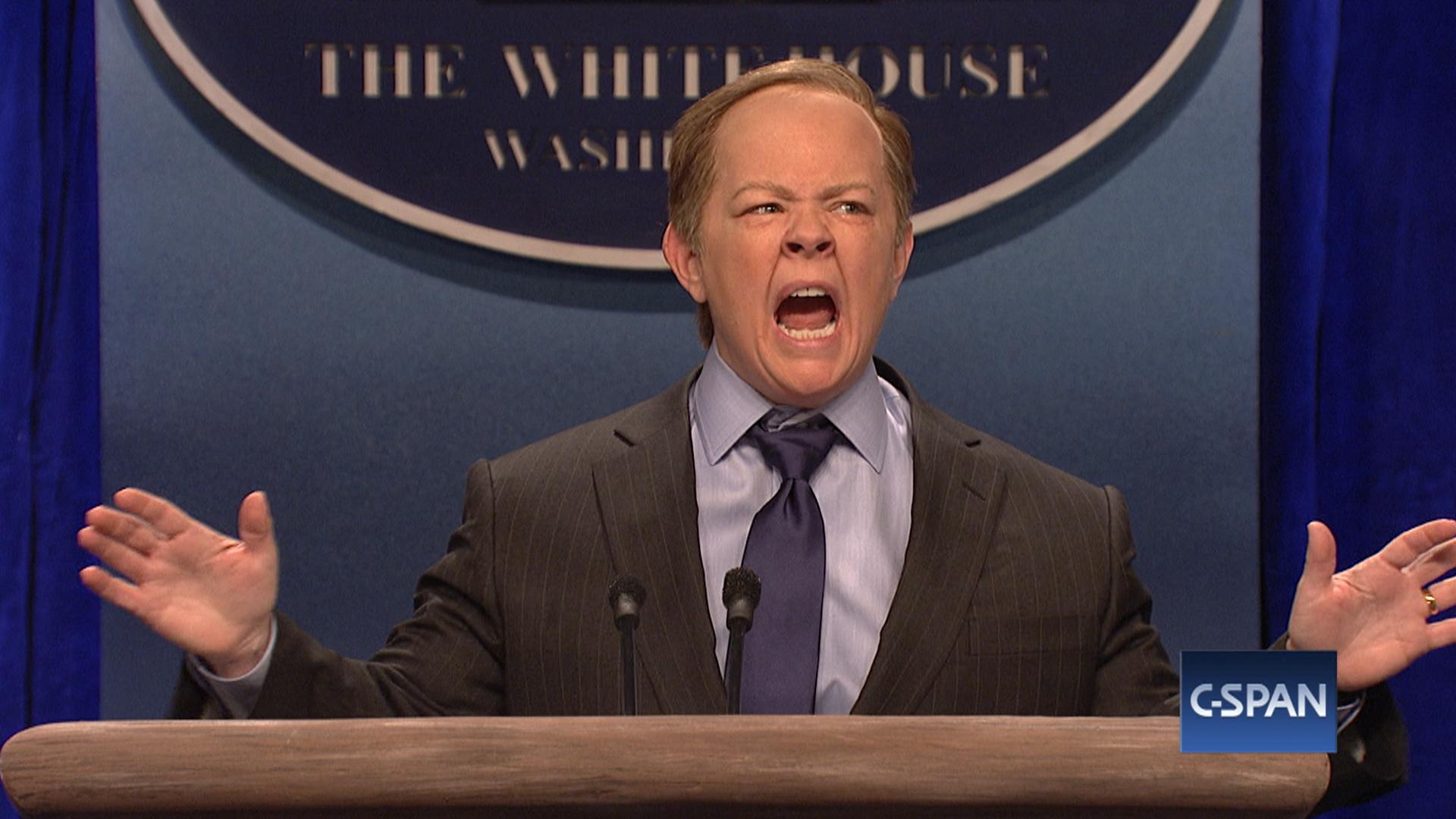 hatalmas készlet bemutató elegáns cipő Melissa McCarthy appears on 'SNL' as Sean Spicer