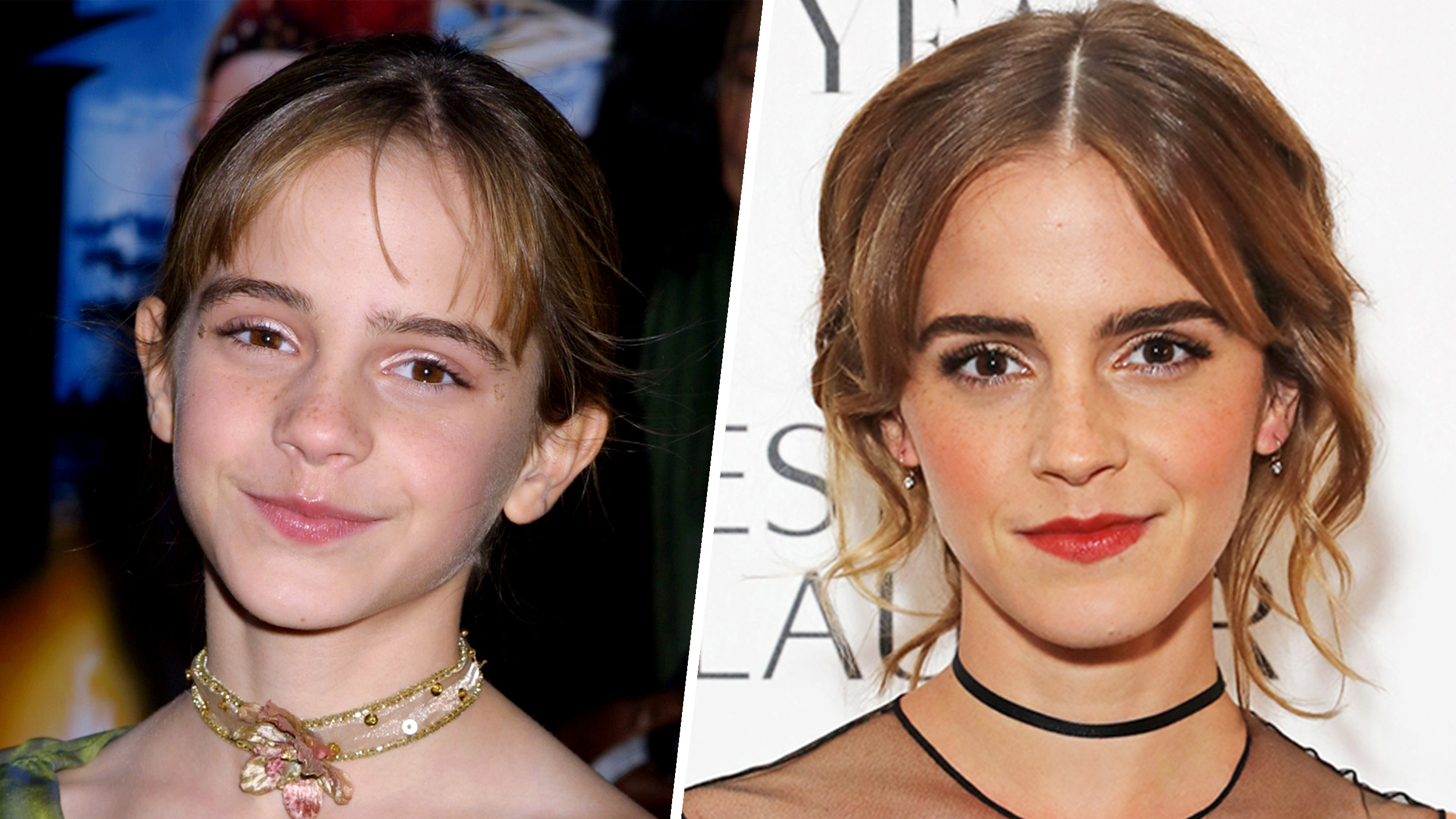 Emma watsons hair from beauty and the beast to harry potter emma watsons hair evolution from hermione to belle urmus Image collections