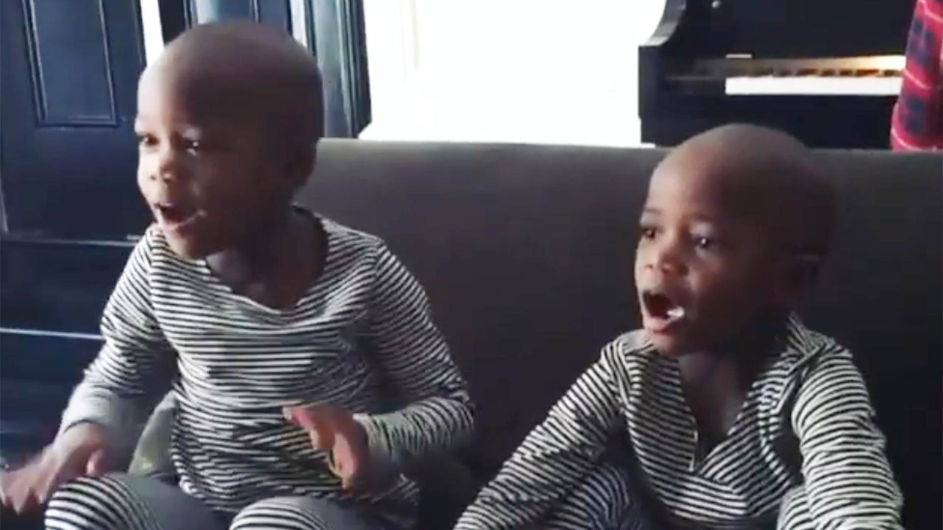 Image result for Madonna Shares Video Of Newly Adopted Twin Daughters Singing Twinkle Twinkle
