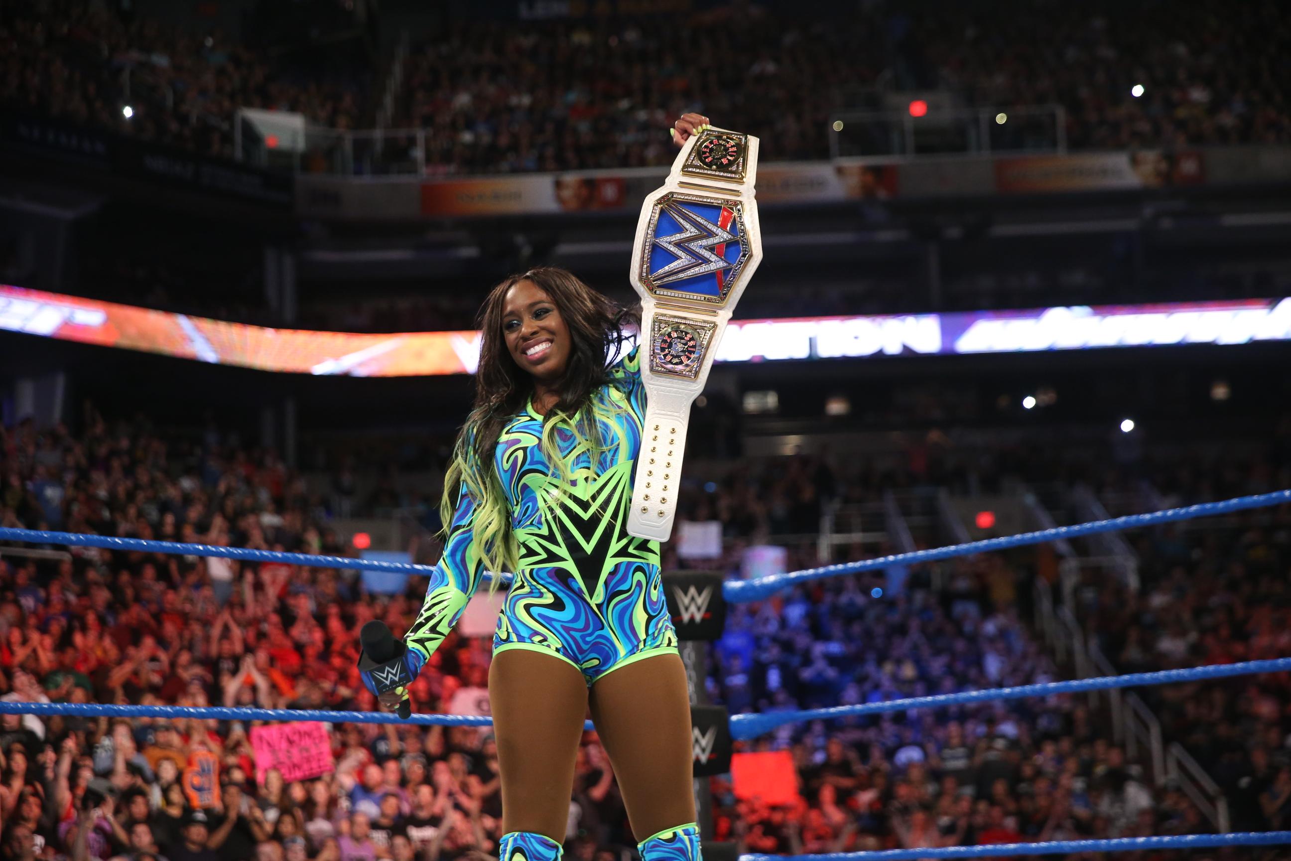 Wwe Superstar Naomi Glows To Victory