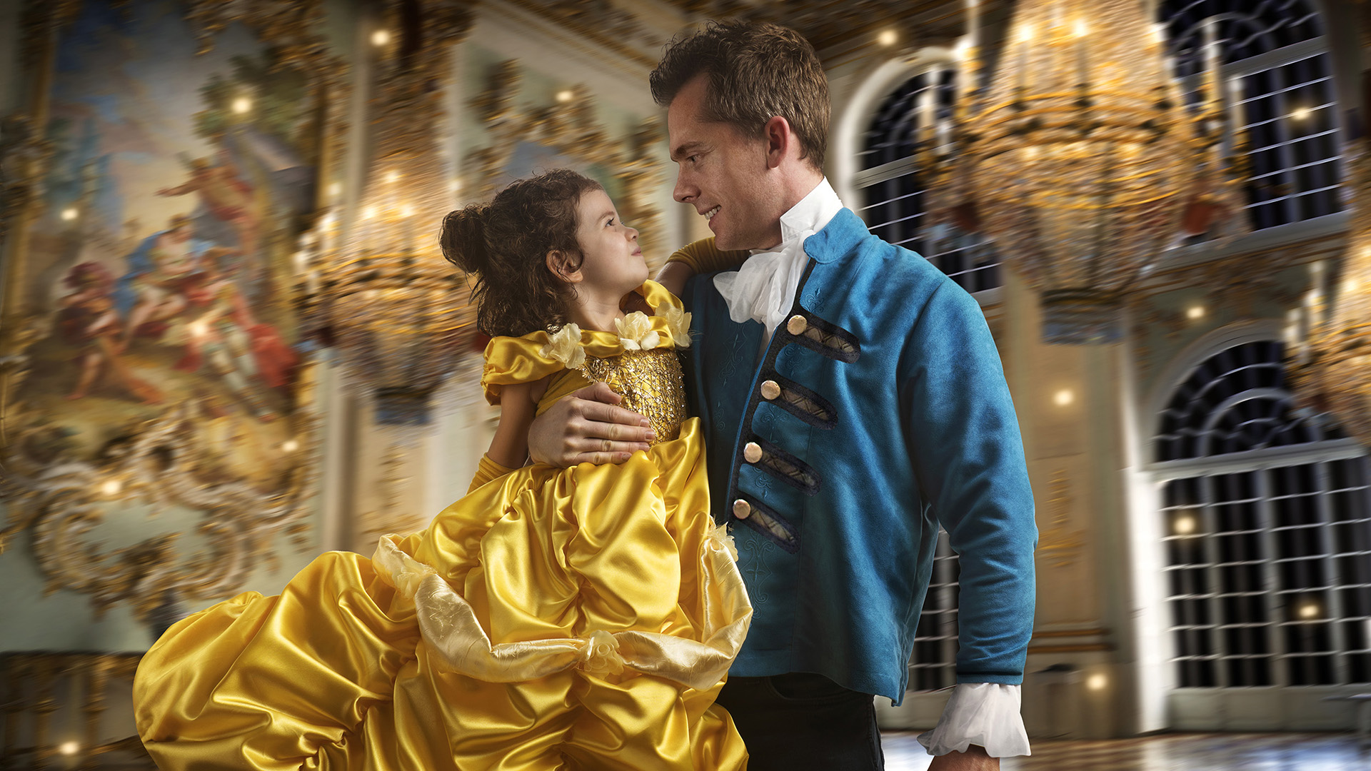 Dad stages epic  Beauty and the Beast  shoot for daughter - TODAY com