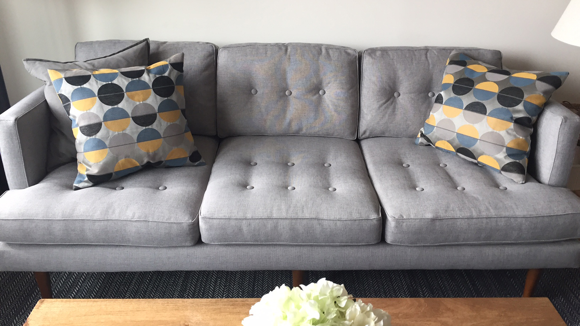West Elm Peggy sofa taken off website TODAY