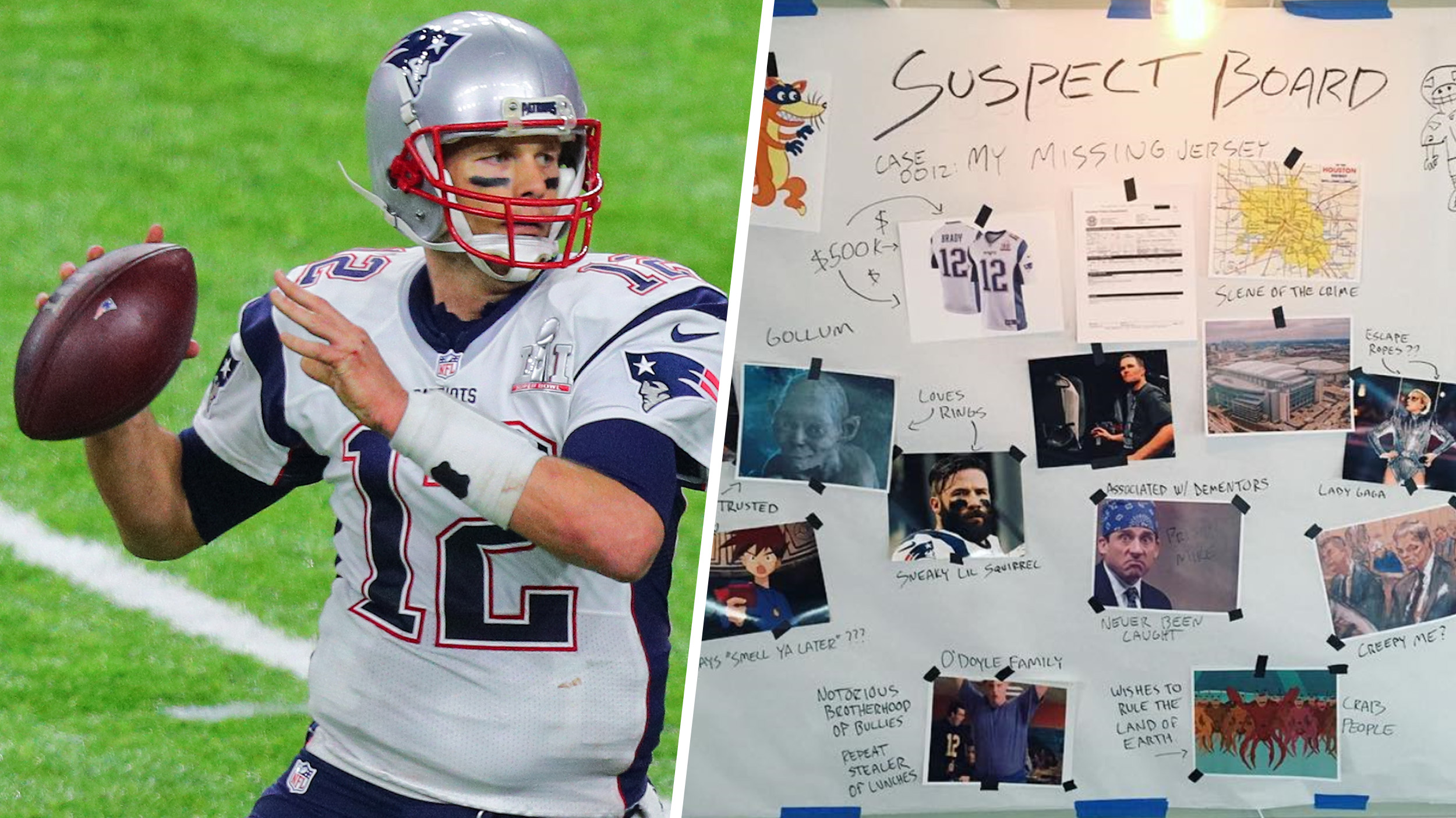 Tom Brady posts 'suspect board' to track down his missing Super ...