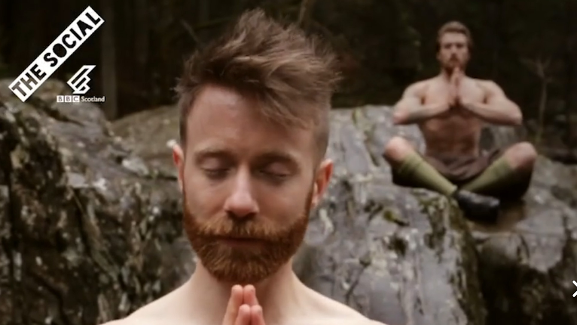 Kilted yoga guys