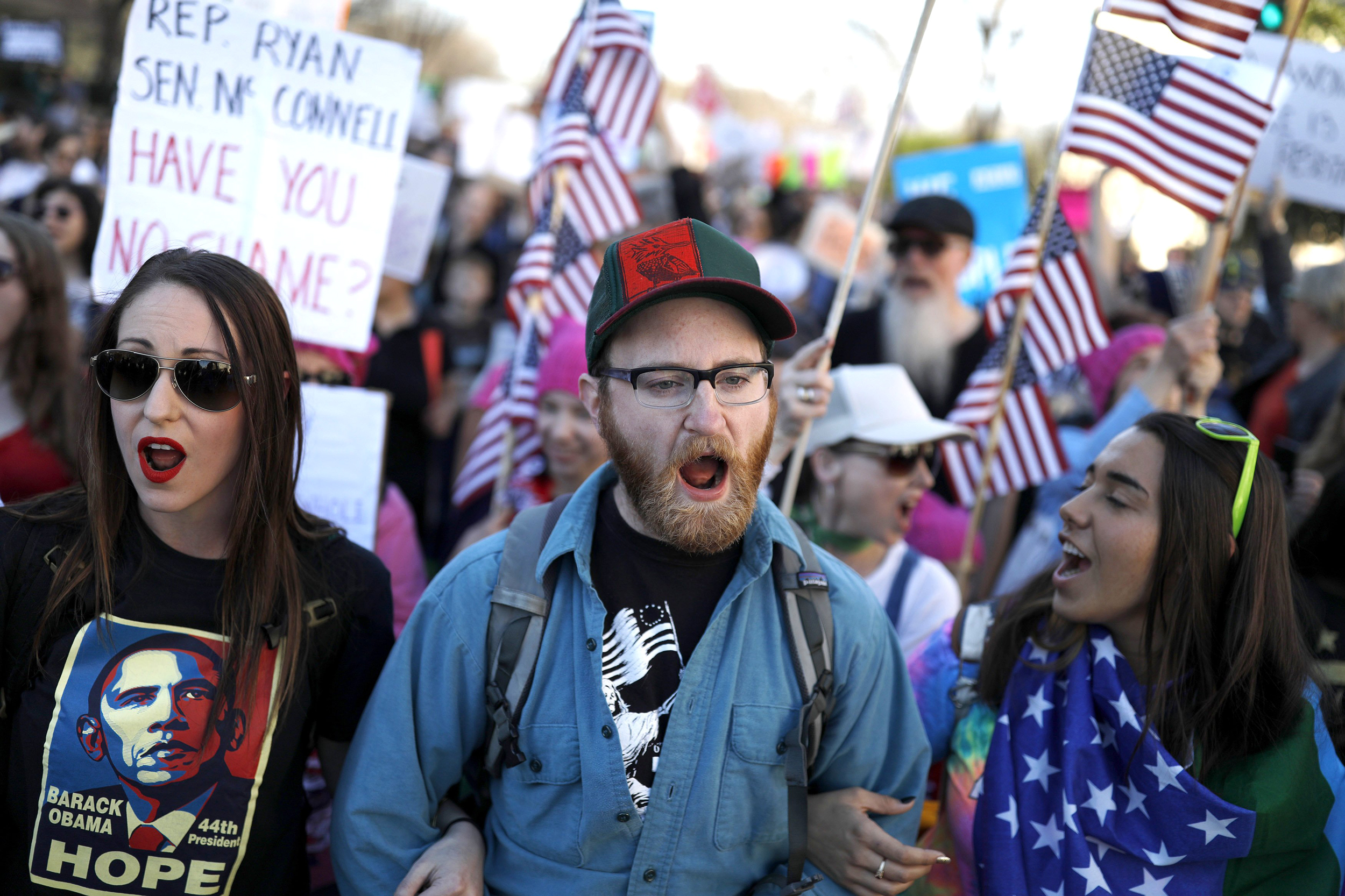Trump Gets Earful at 'Not My President's Day' Rallies