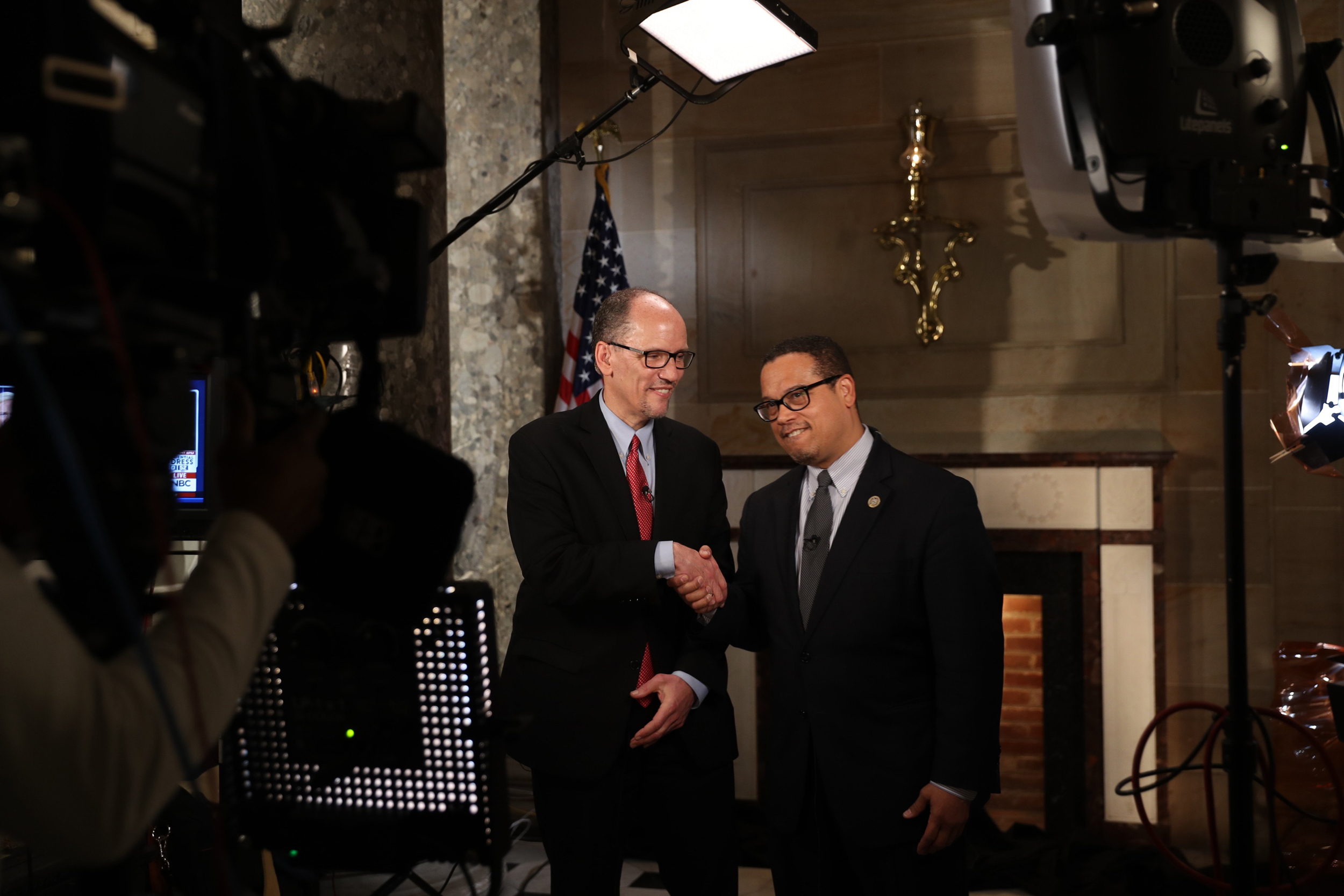 Image: Tom Perez and Rep. Keith Ellison