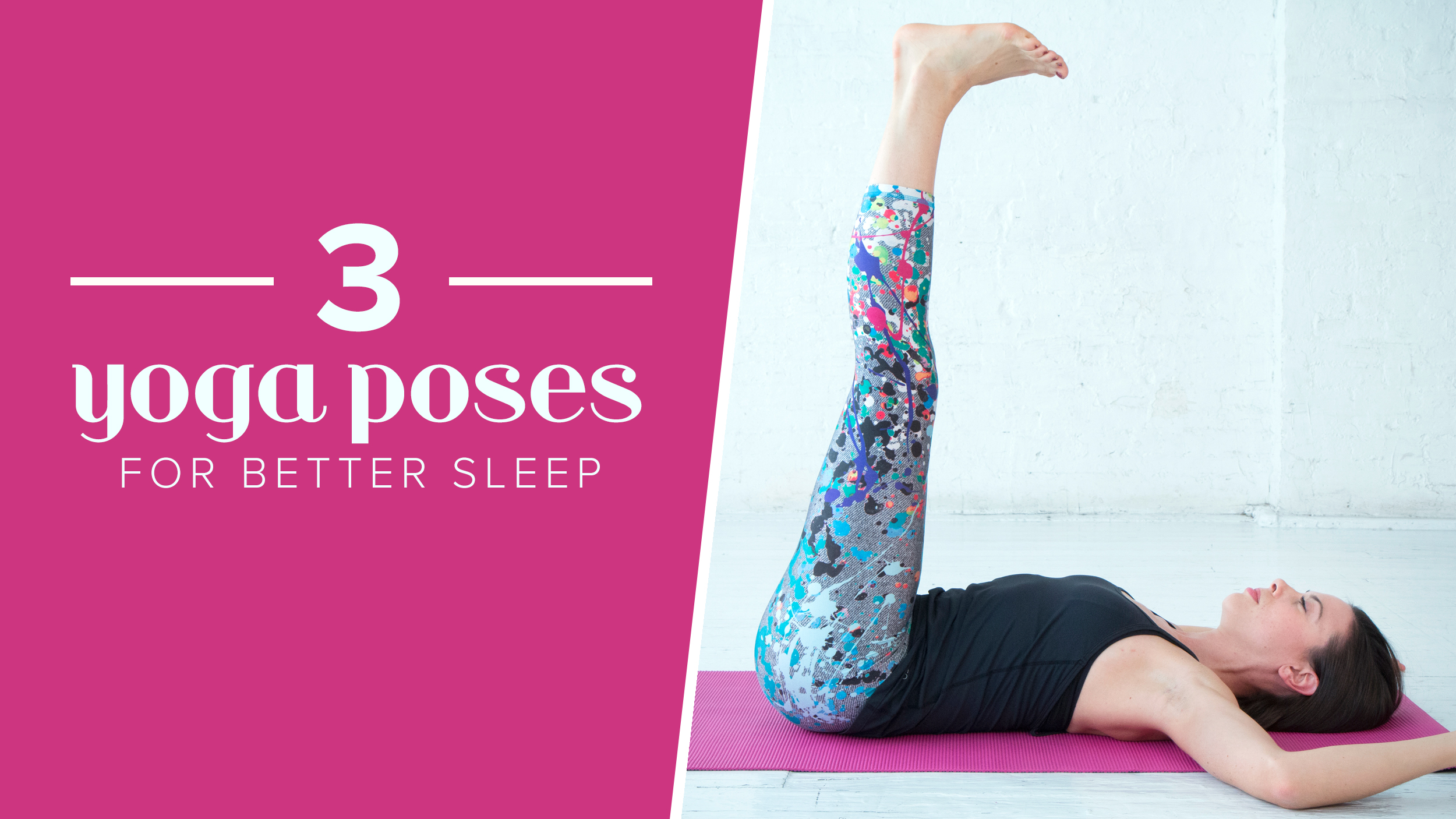 Yoga poses for better sleep