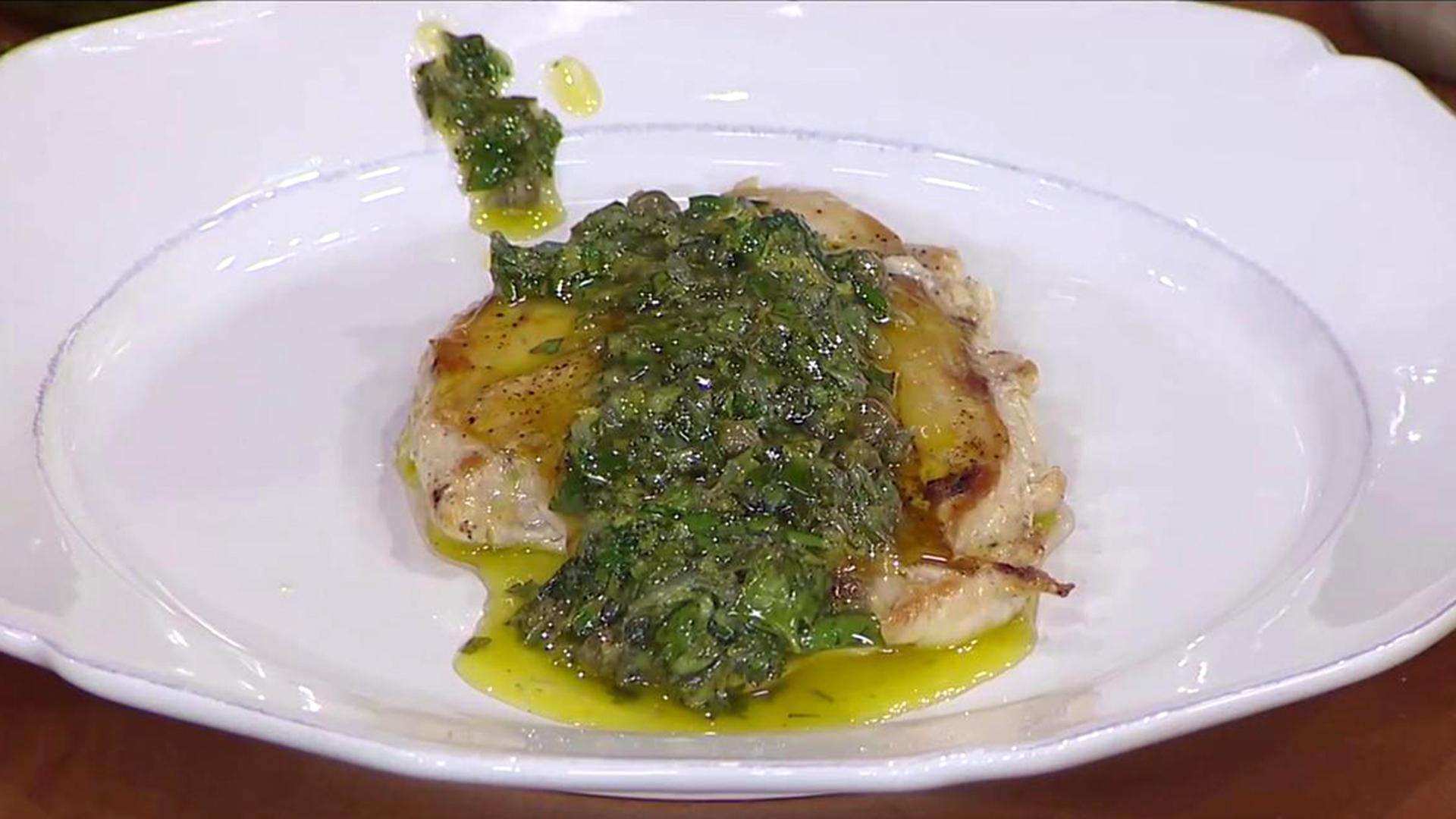 Crispy Chicken Breasts with Lemon Salsa Verde - TODAY.com