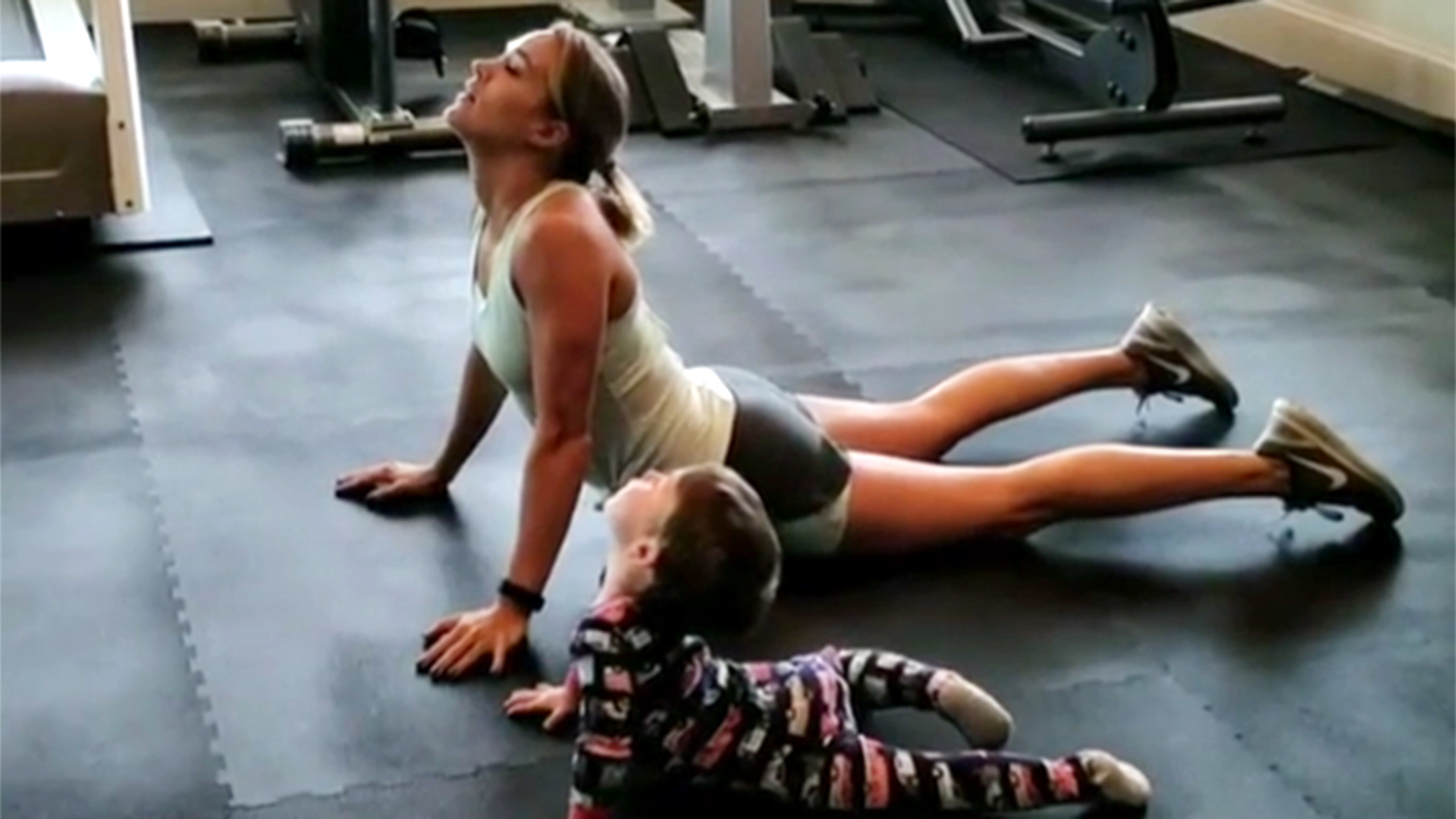 Carrie Underwood has the perfect yoga partner in 2-year-old son Isaiah