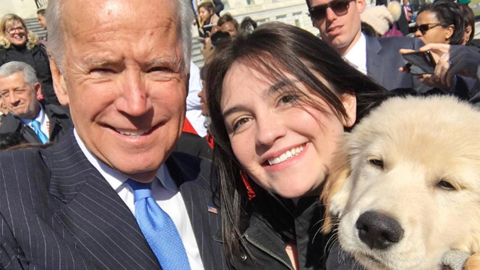 Sweet pawlitics! Joe Biden the human meets Joe Biden the puppy