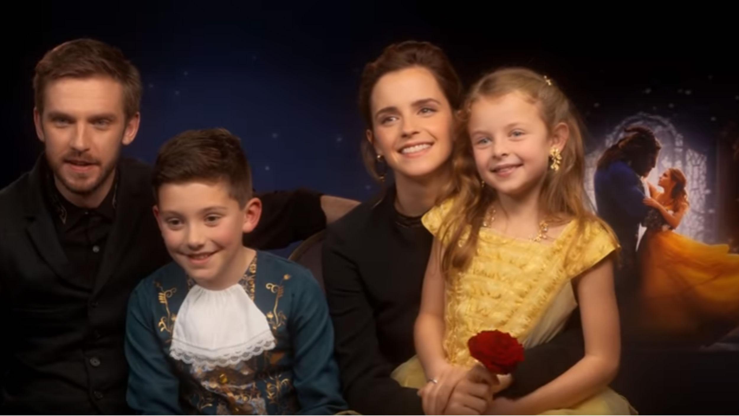 Emma Watson And Dan Stevens Interviewed By Adorable  U0026 39 Mini