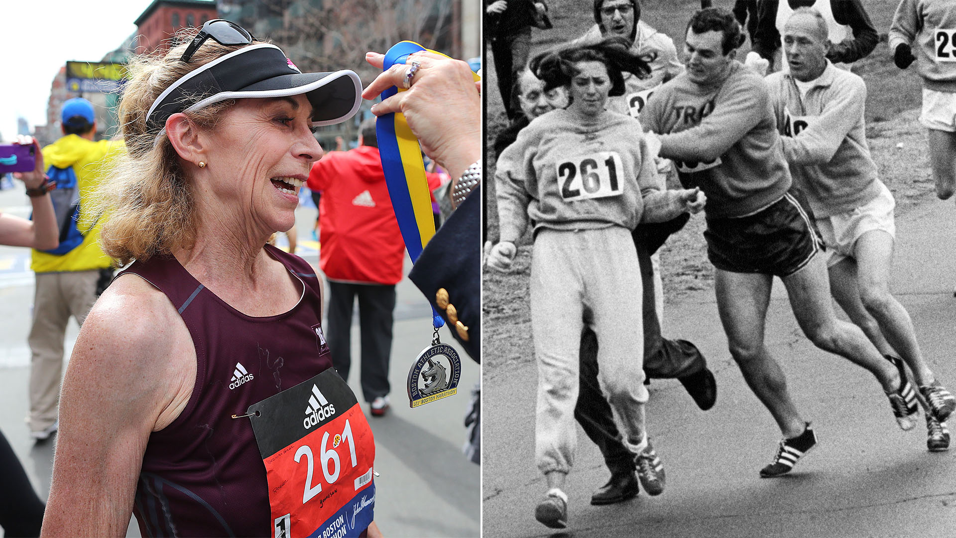 First woman to officially run Boston Marathon does it ...
