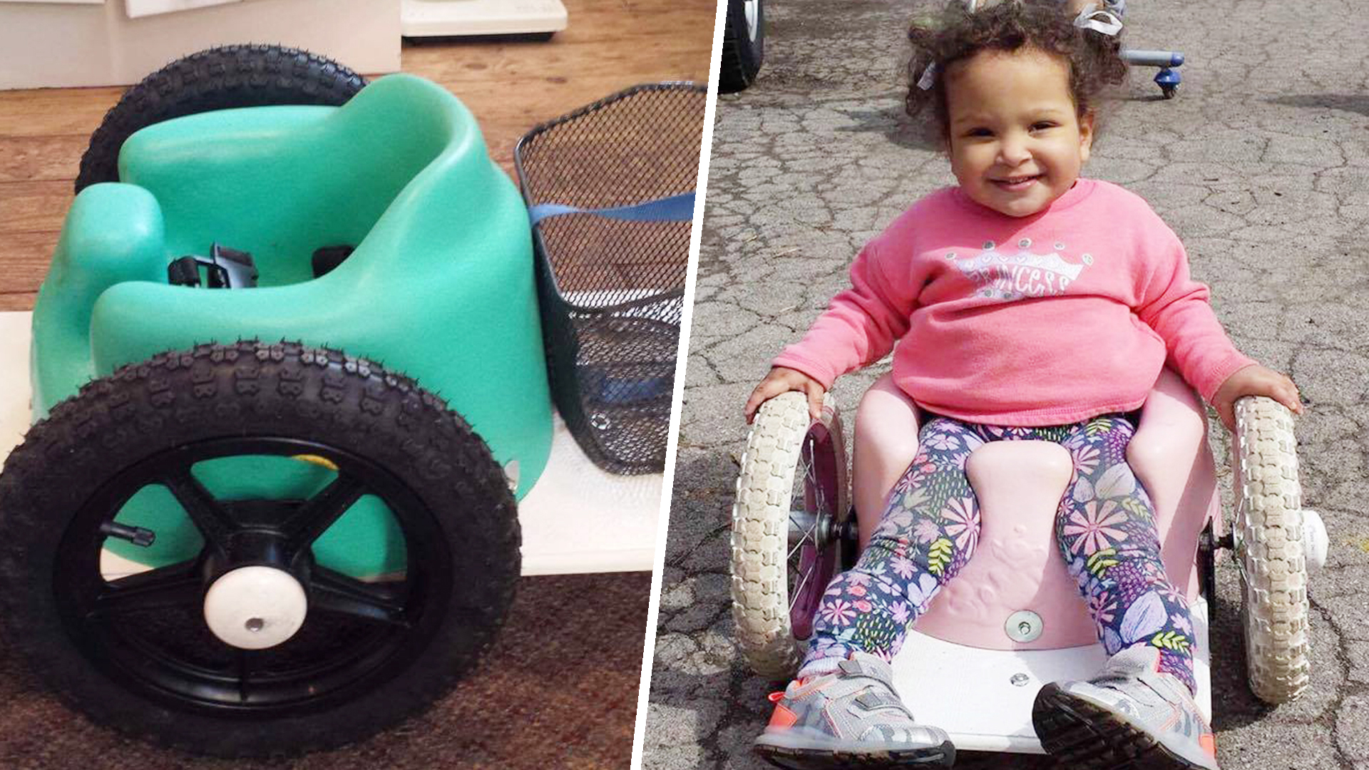 Girl With Spina Bifida Inspires Family To Make Wheelchairs