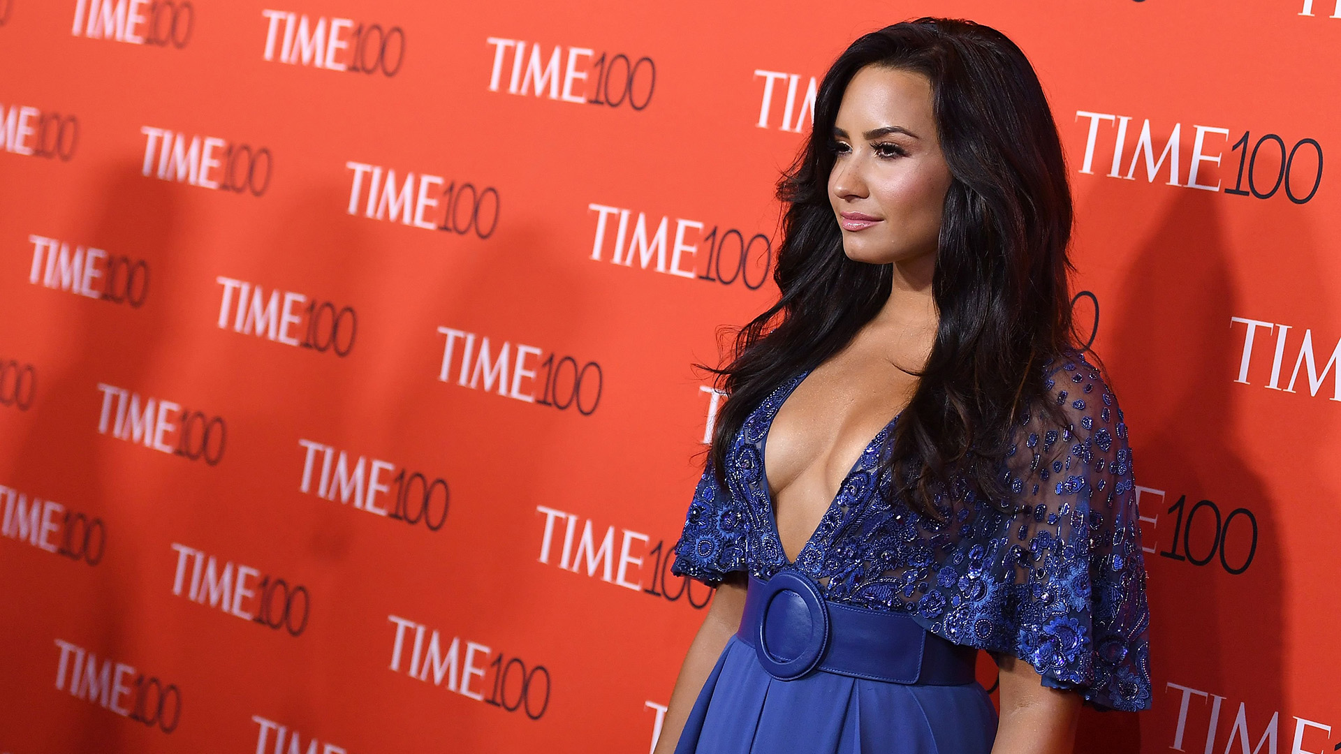 demi lovato celebrates being named time honoree