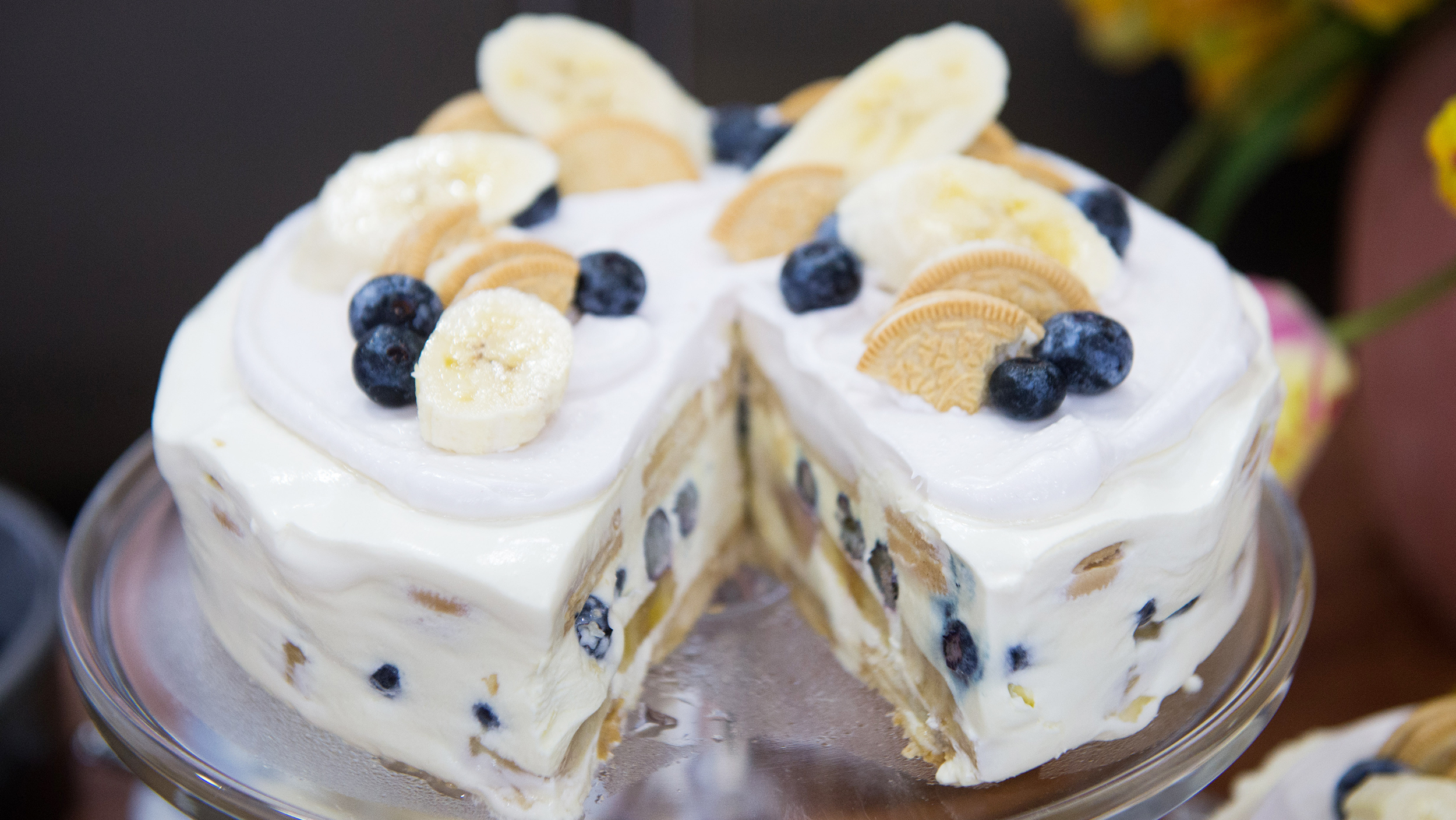 Today Recipes No Bake Blueberry Banana Icebox Cake Recipe T