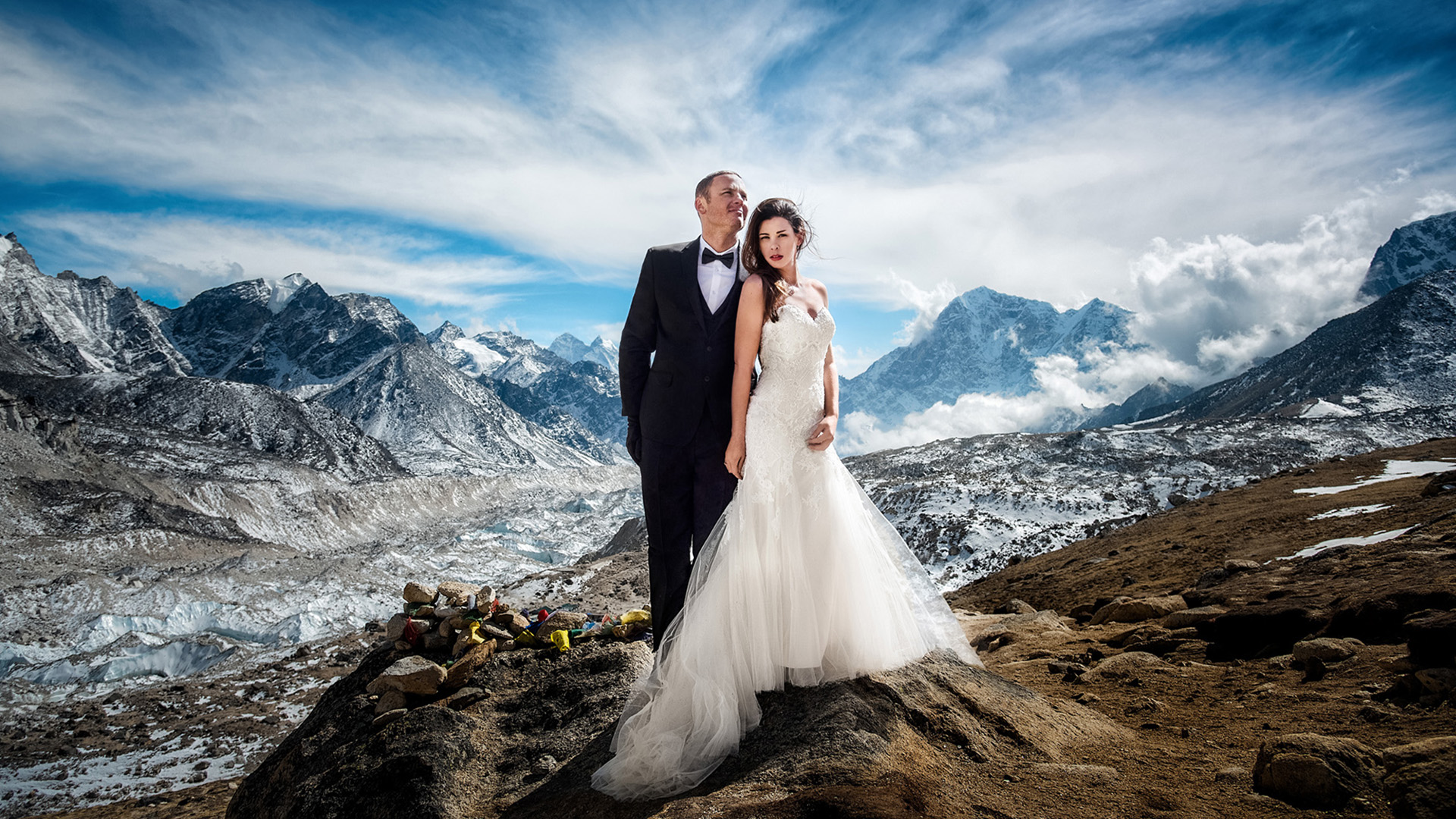 Mount Everest wedding: Couple marries at Nepal base camp