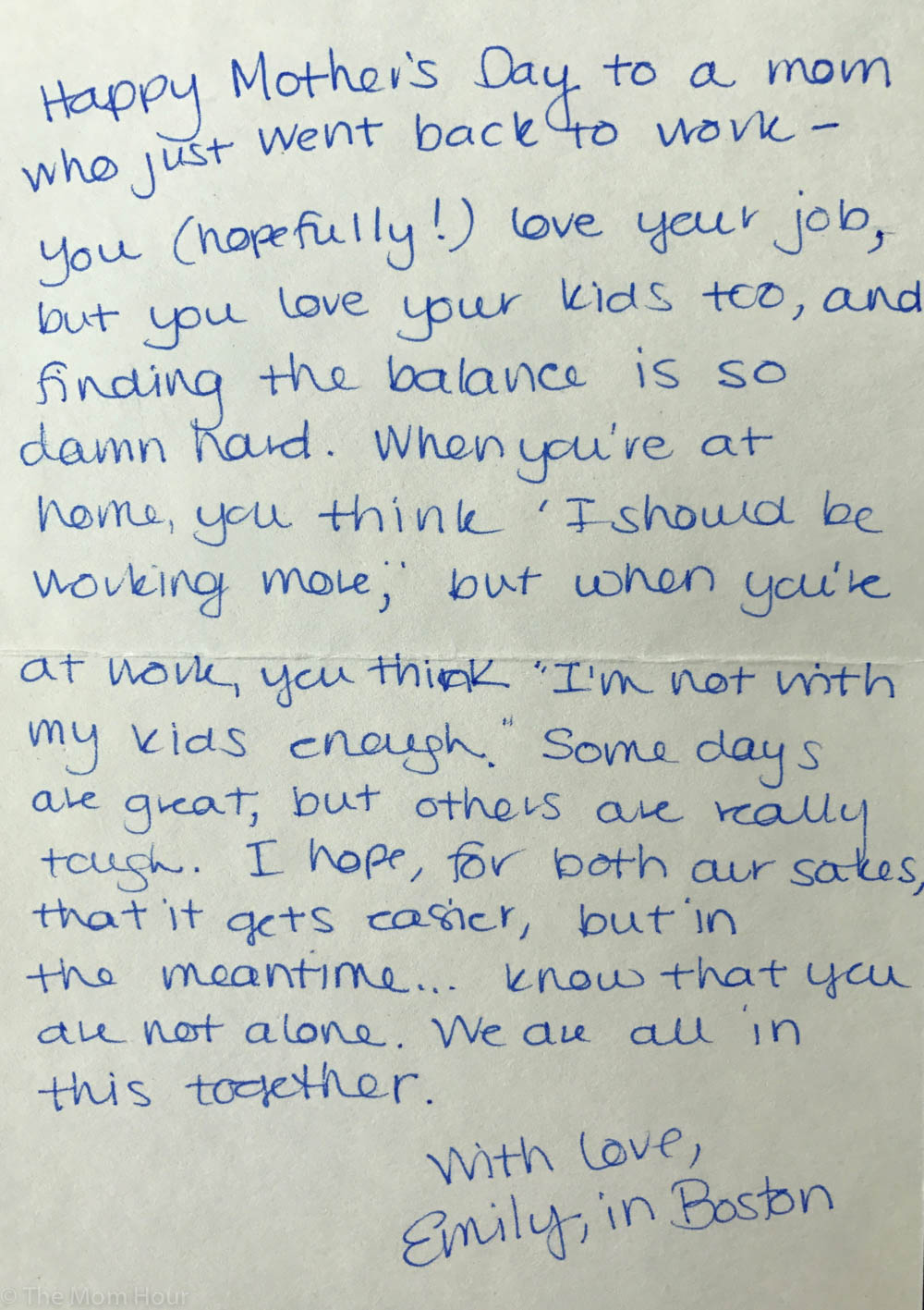 88051c71dfa These handwritten Mother's Day letters prove moms have each other's backs