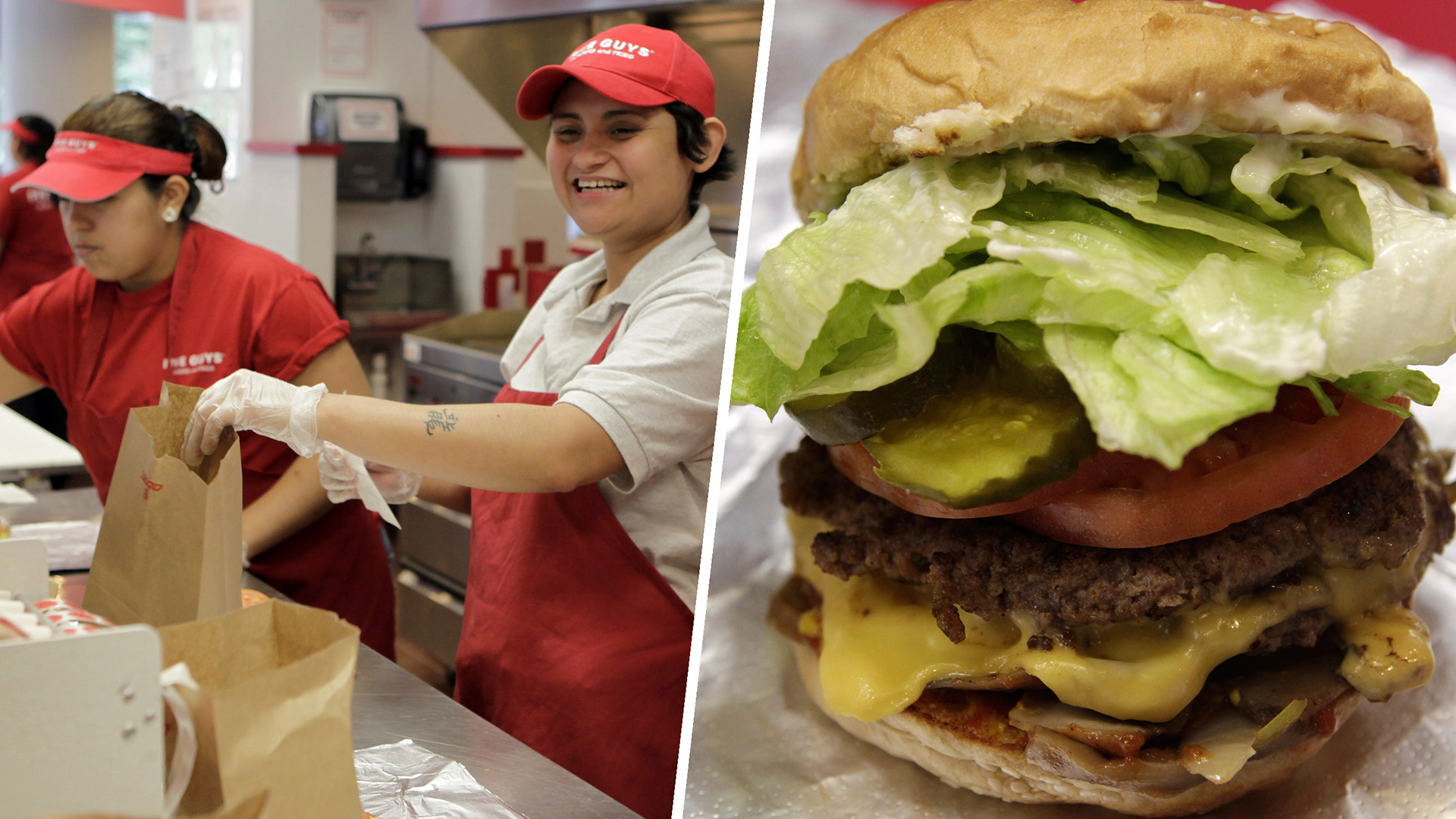 Five Guys beats In-N-Out as America's favorite burger chain