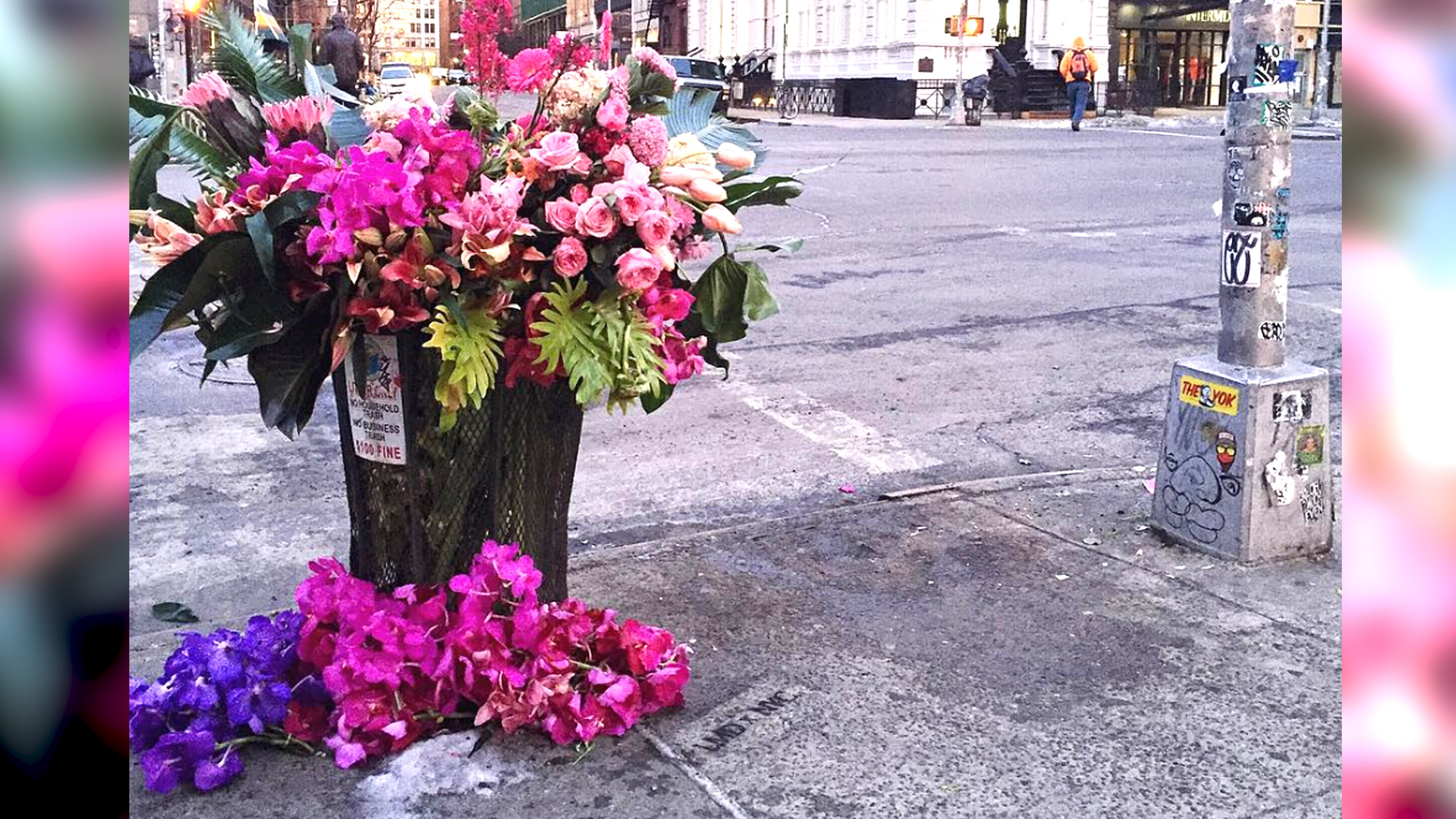 Flower Bandits Transform Nyc Trash Cans Into Beautiful Bouquets
