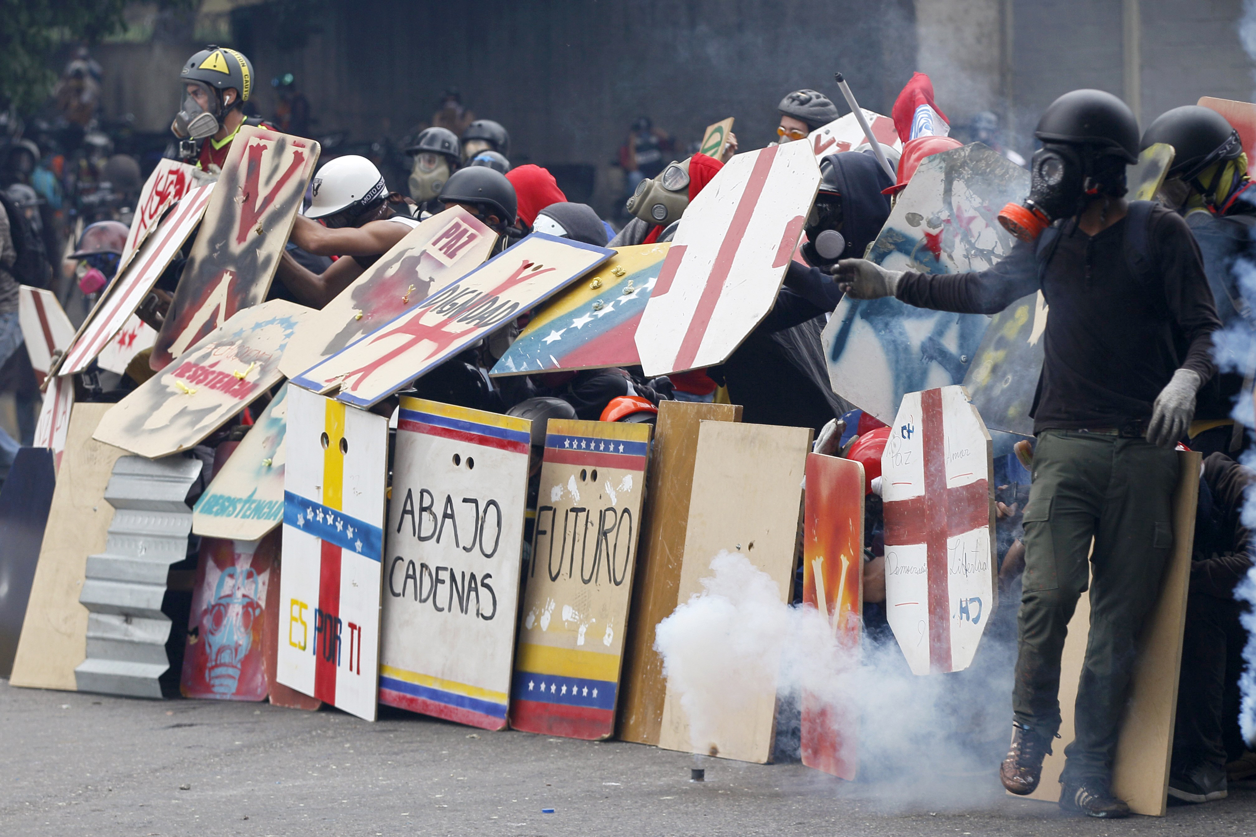 Fecal Bombs and Bottle Masks Against Maduro