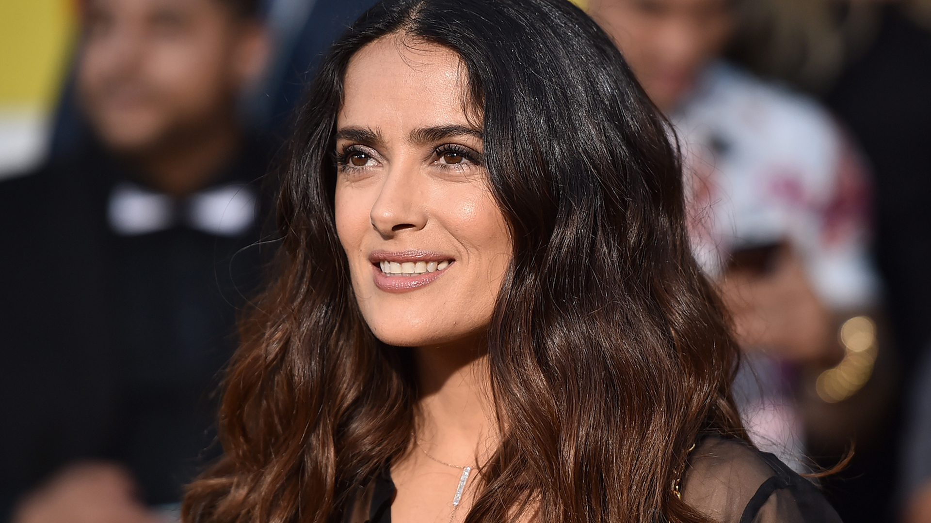 Salma Hayek Sports Pink Hair At 2017 Cannes Film Festival