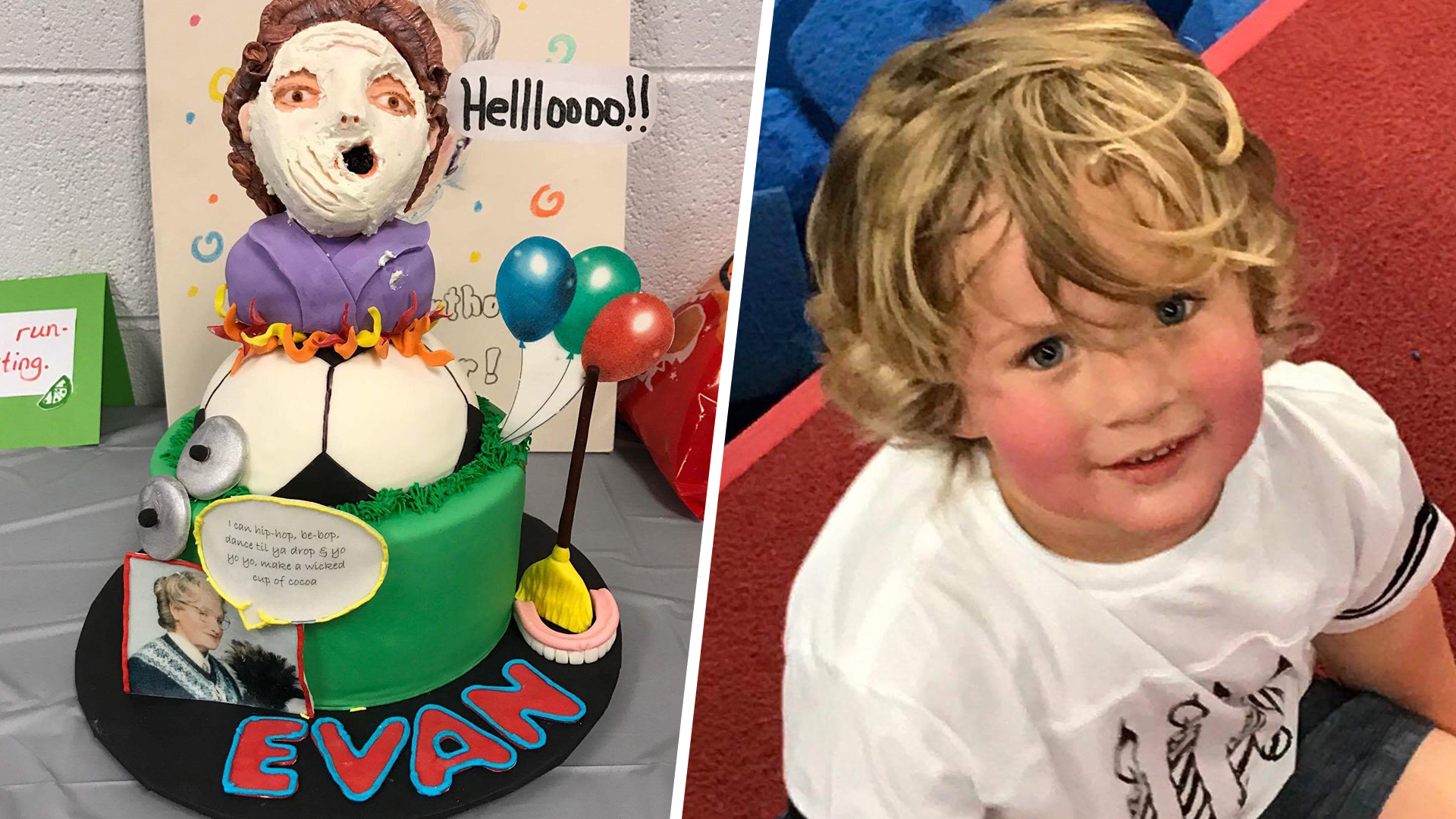 this mrs doubtfire 4th birthday party wins the inter