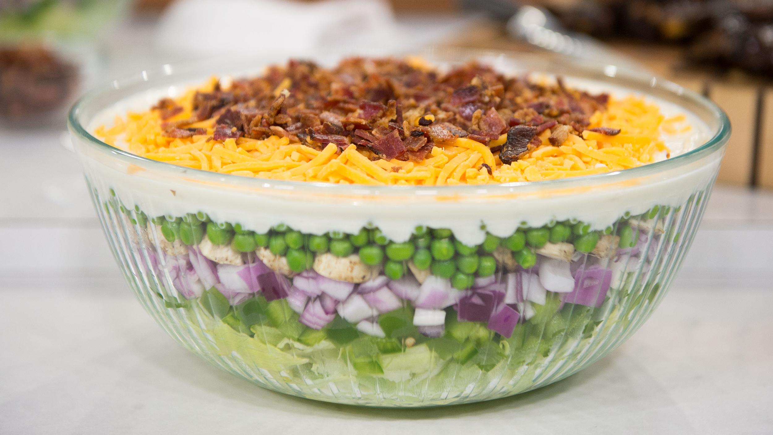 layered veggie salad today com