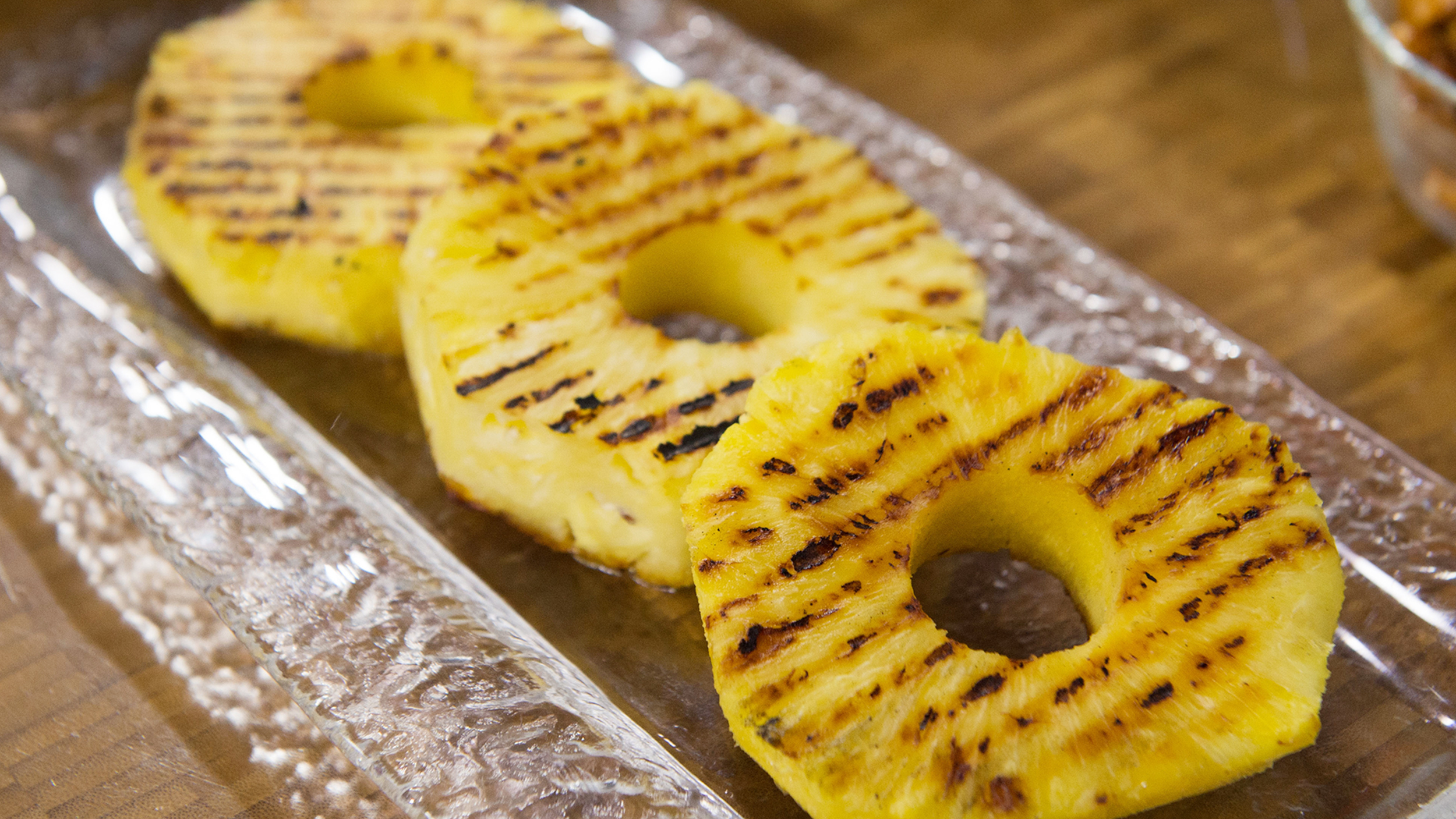 grilled pineapple on stove