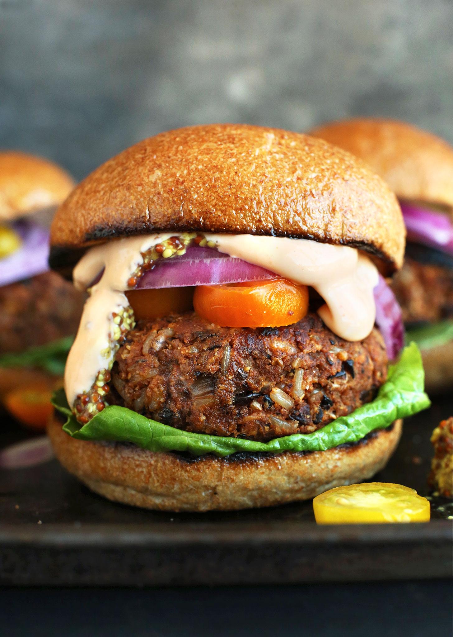 Grillable Veggie Burgers
