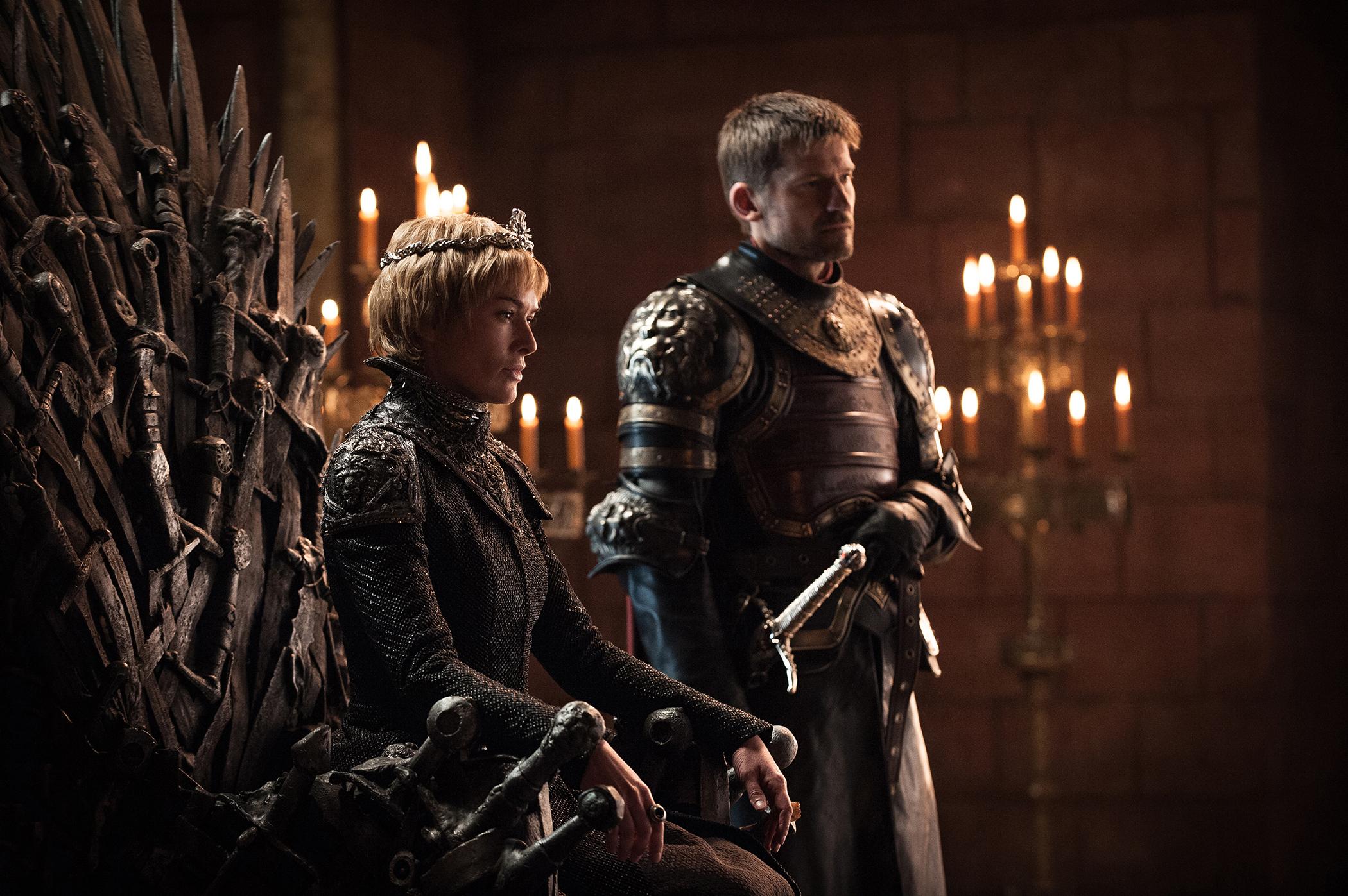 Image: Game of Thrones Season 7 still; Lena Headey, Nikolaj Coster-Waldau.
