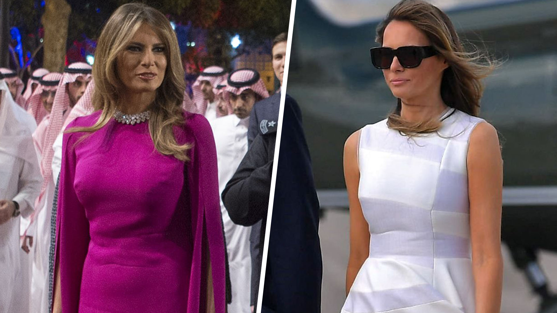 Melania Trump's fashion-forward international travel style ...