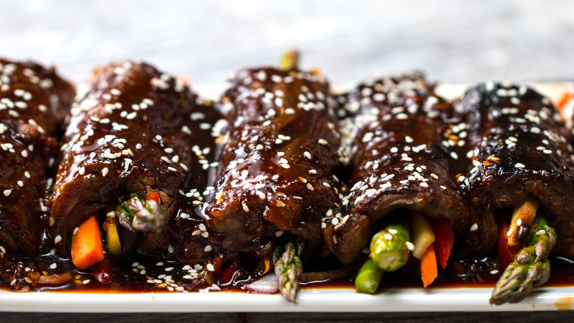 Teriyaki Steak Roll-Ups - TODAY.com
