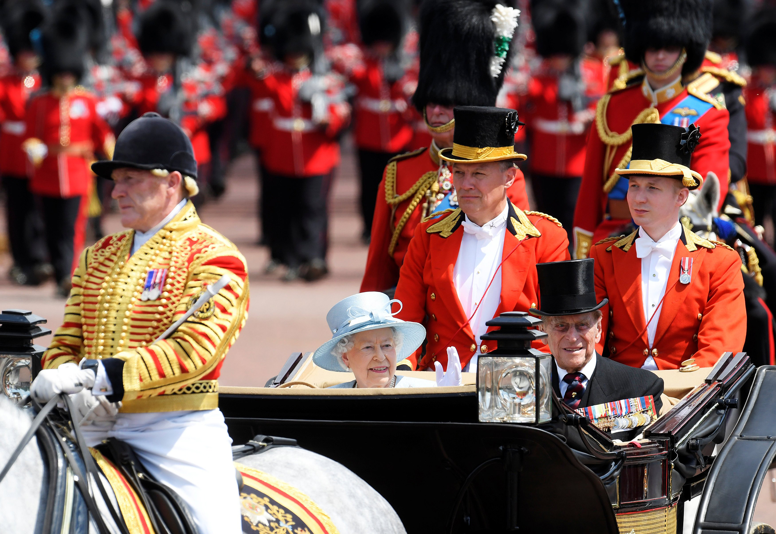 Royal Family Celebrates Queen's Birthday with Trooping of