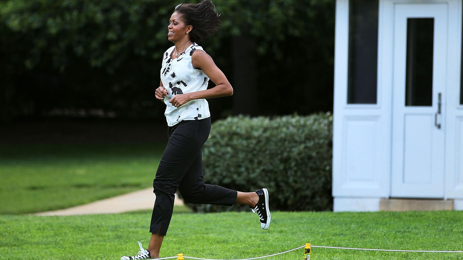 Image result for Michelle Obama running