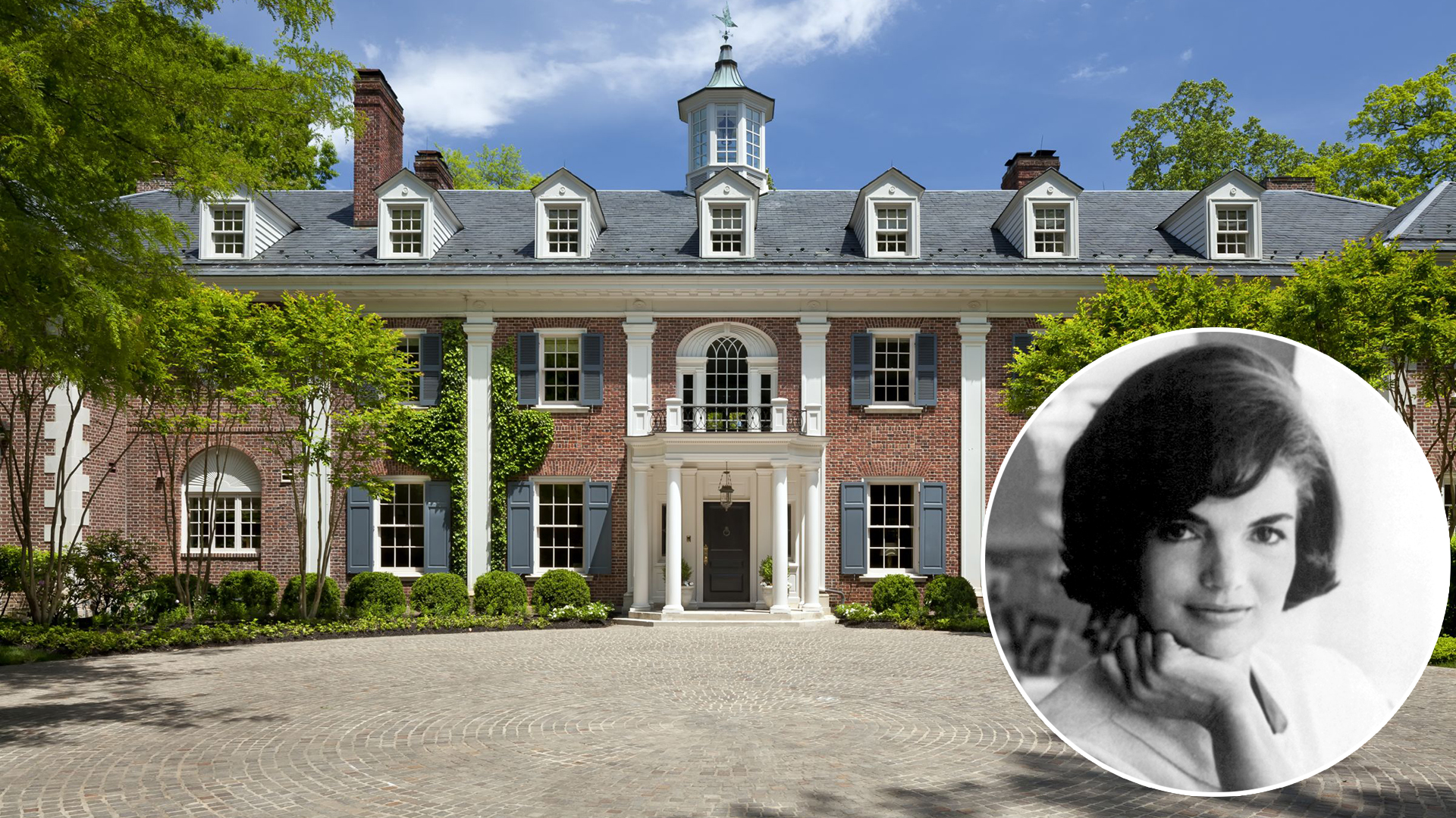 jackie kennedy 39 s home in virginia is for sale. Black Bedroom Furniture Sets. Home Design Ideas