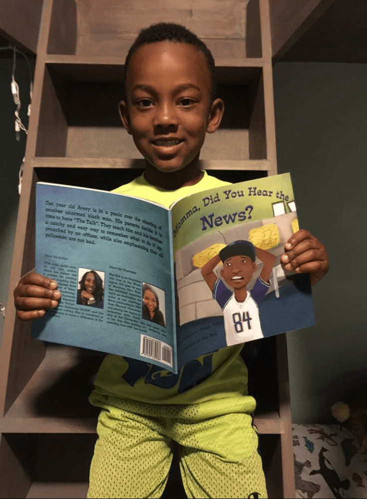 """Image: """"Momma, Did You Hear the News"""" is a new children's book for black and brown boys."""