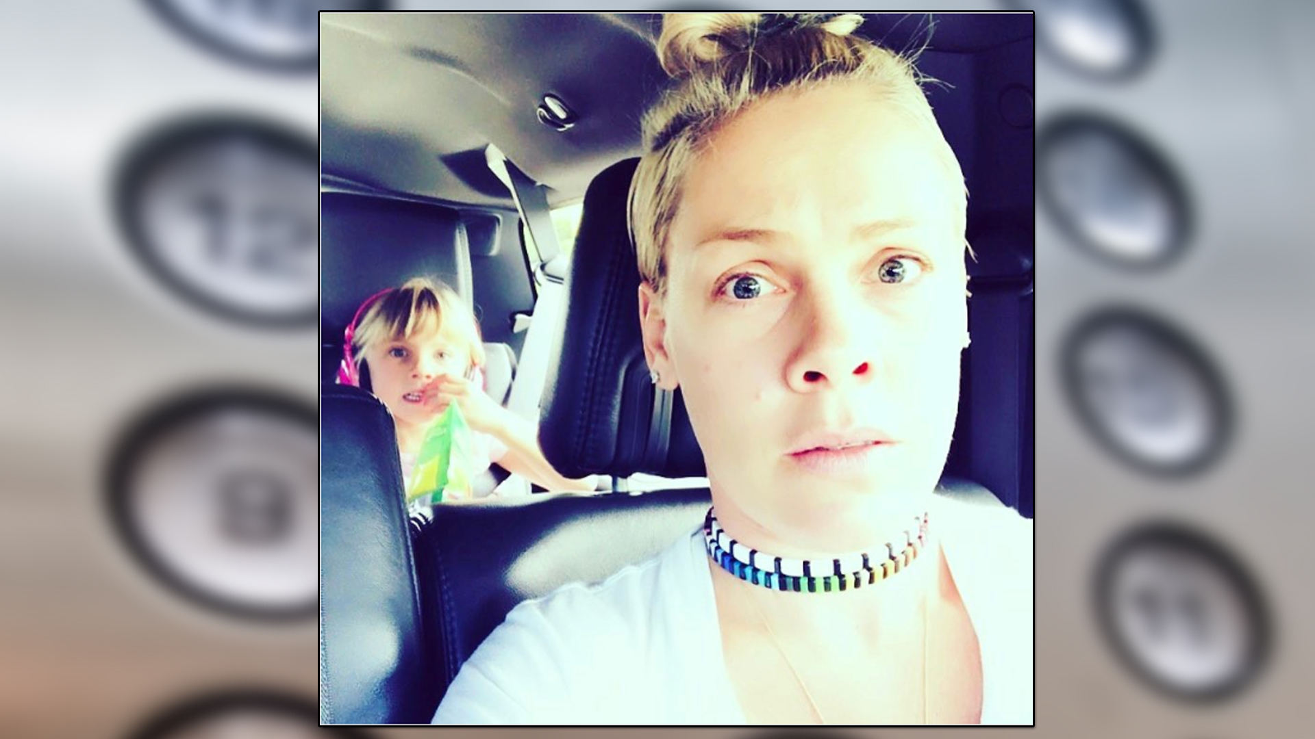 Pink Gets Trapped In Elevator With Daughter Before