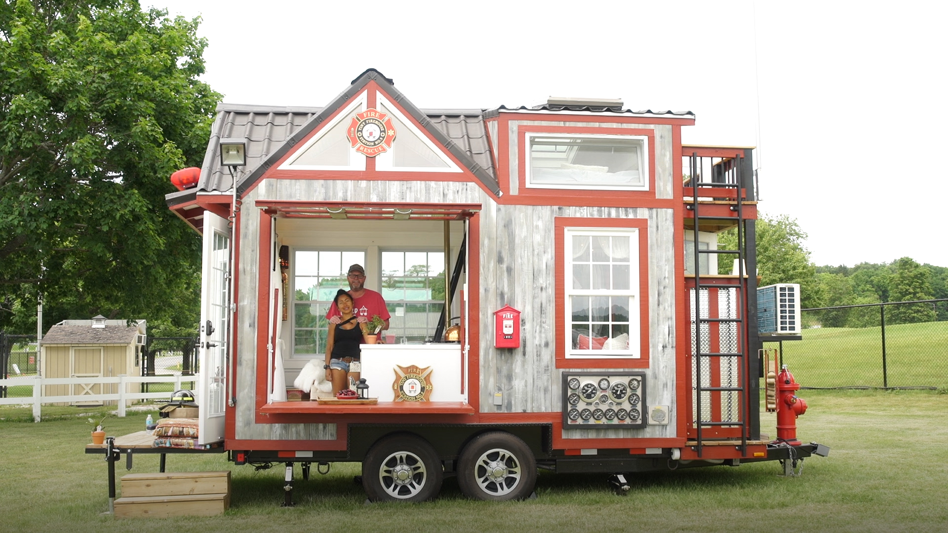 Take a 360 tour of the tiny firehouse built for fire for Fire safety house