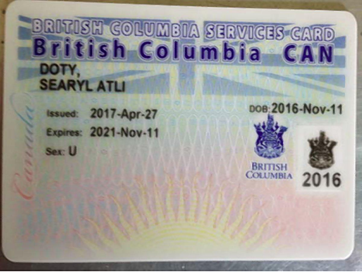 Canadian baby receives genderless government id card aiddatafo Choice Image
