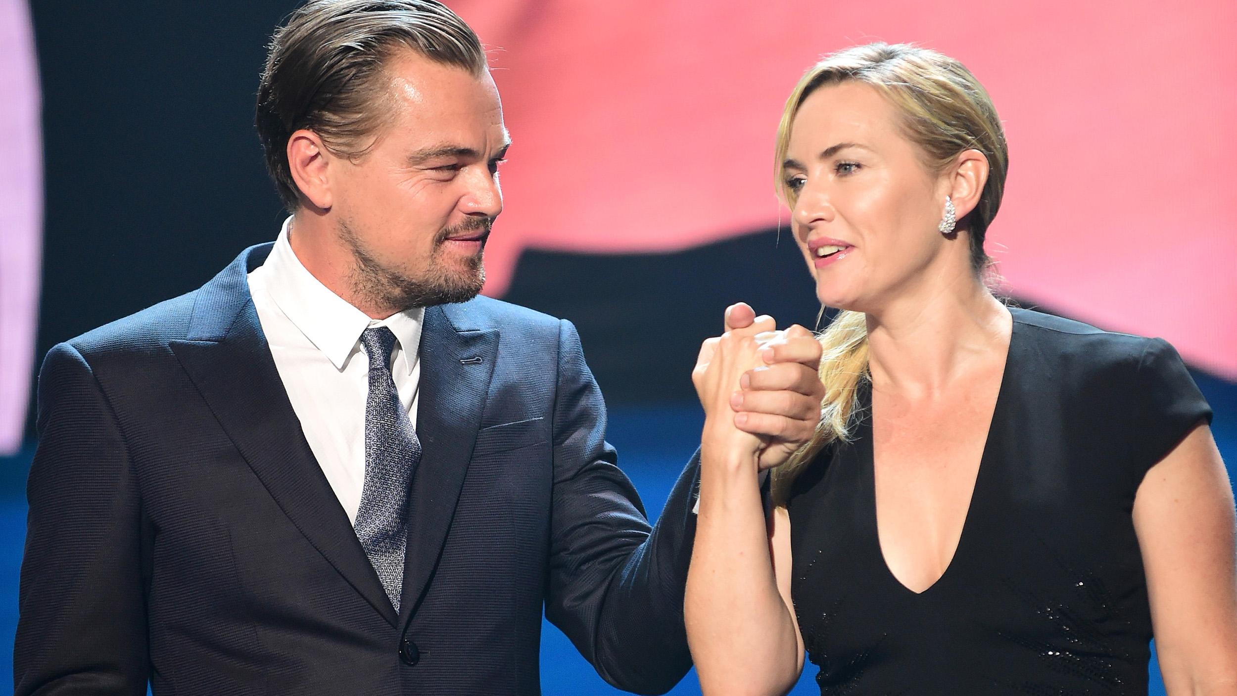 See Leonardo DiCaprio and Kate Winslet reunite with ... Leonardo Dicaprio And Kate Winslet
