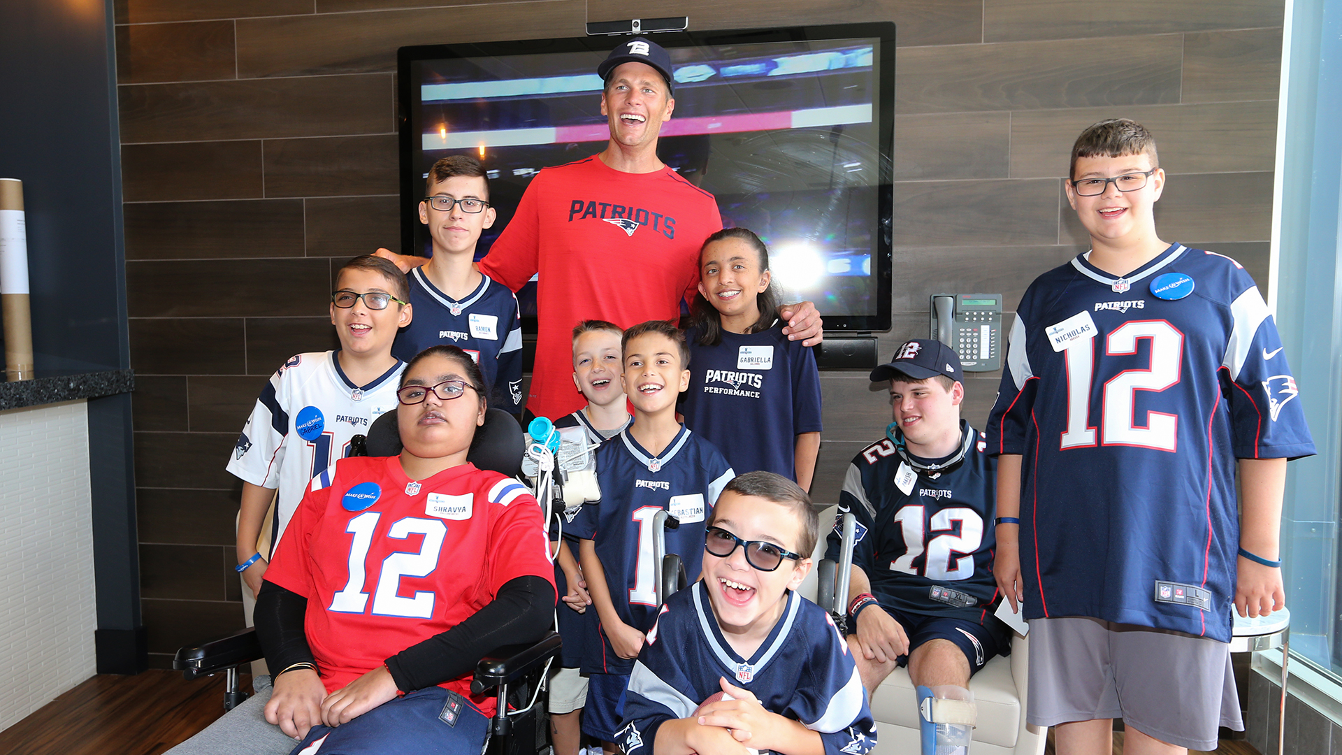 tom brady shares make a wish day with young patriots fans