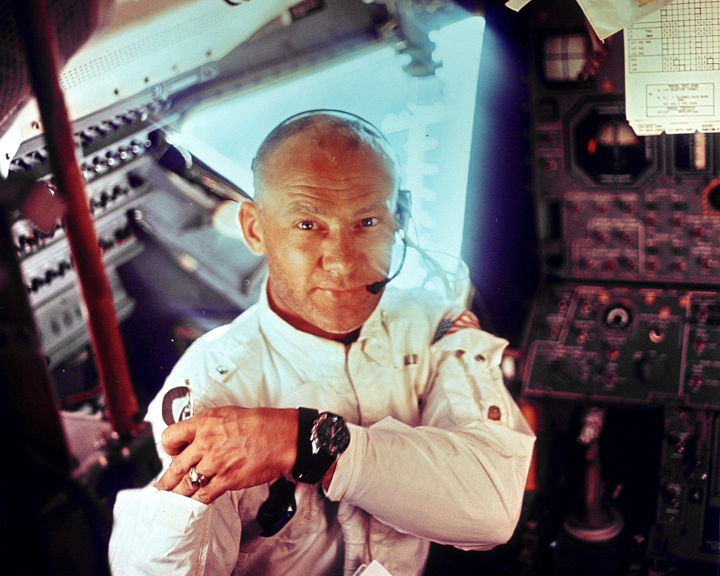 Image: Apollo 11 Lunar Module shows Astronaut Edwin E. Aldrin, Jr., lunar module pilot, during the lunar landing mission.