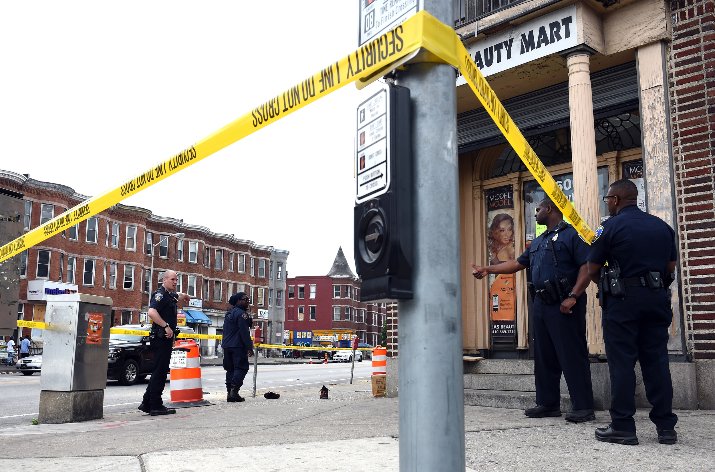 Image: Violence in Baltimore
