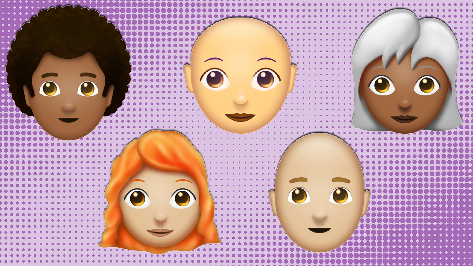 New redhead emojis arrive, along with other unique hair styles