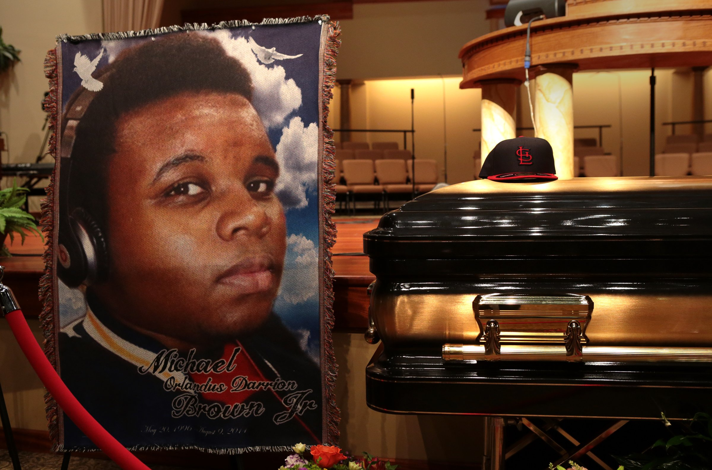 Image: Funeral Held For Teen Shot To Death By Police In Ferguson, MO