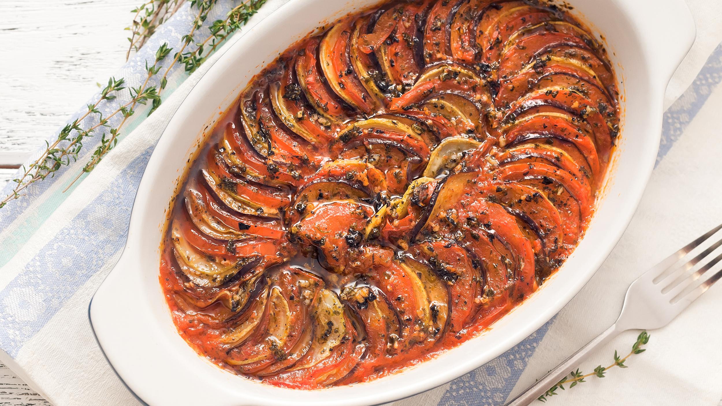 Julia child 39 s ratatouille eggplant casserole for Julia child cooking school