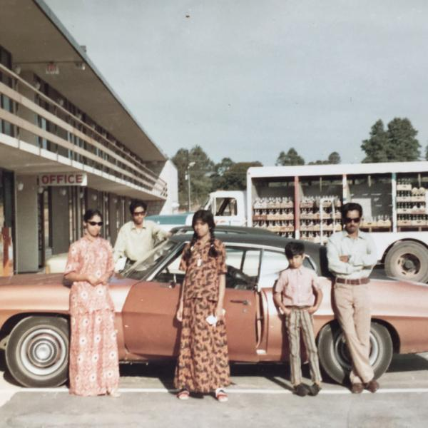 Radhika Balarishnan and family in Orlando, Florida in 1972.