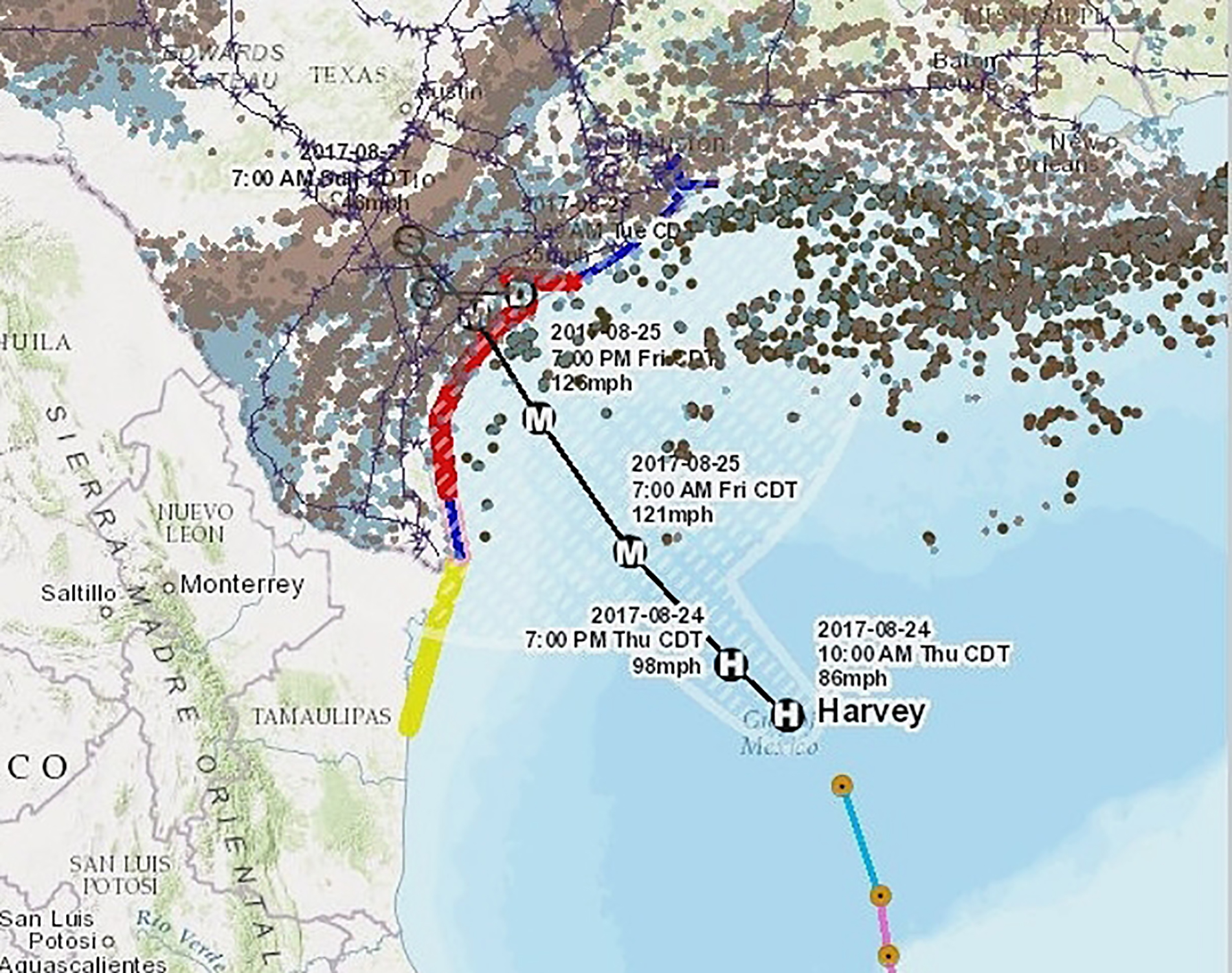 Image: Map of Threatened Gulf Oil Facilities