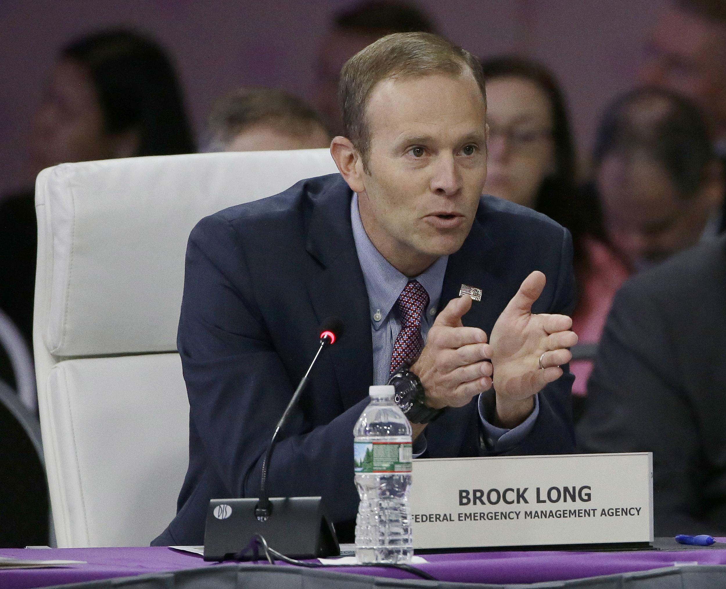 Image: FEMA Director Brock Long addresses a plenary session entitled