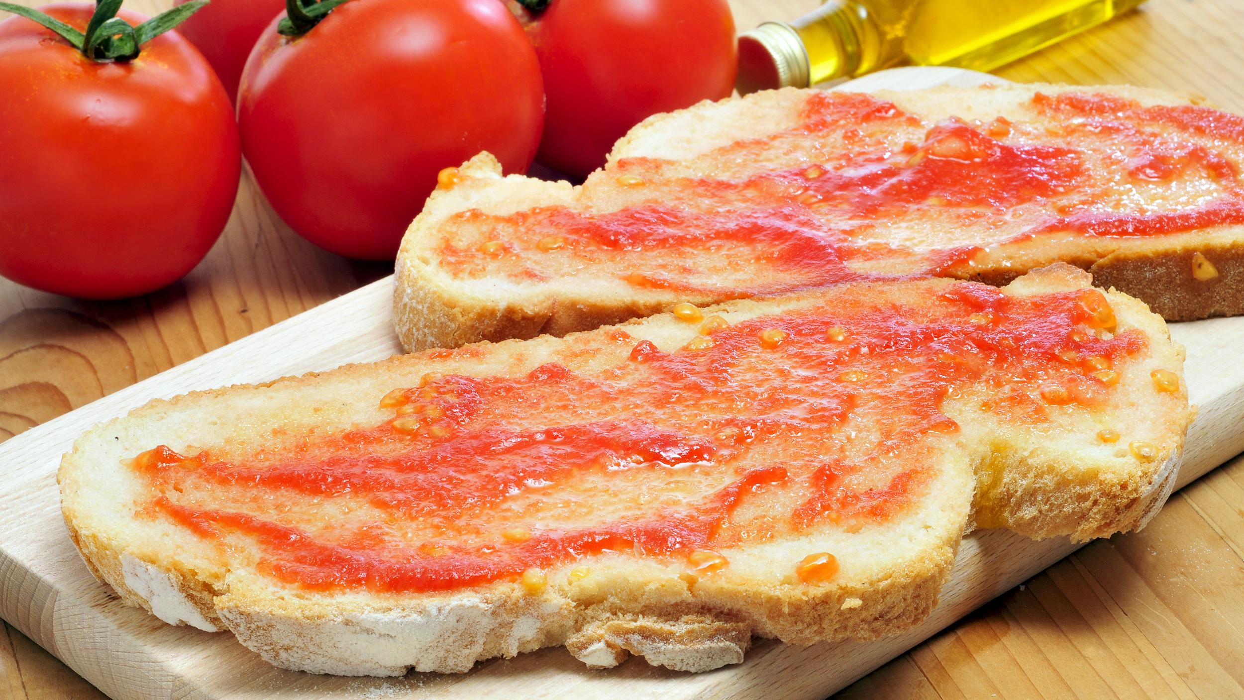 Resultado de imagen para pan con tomate